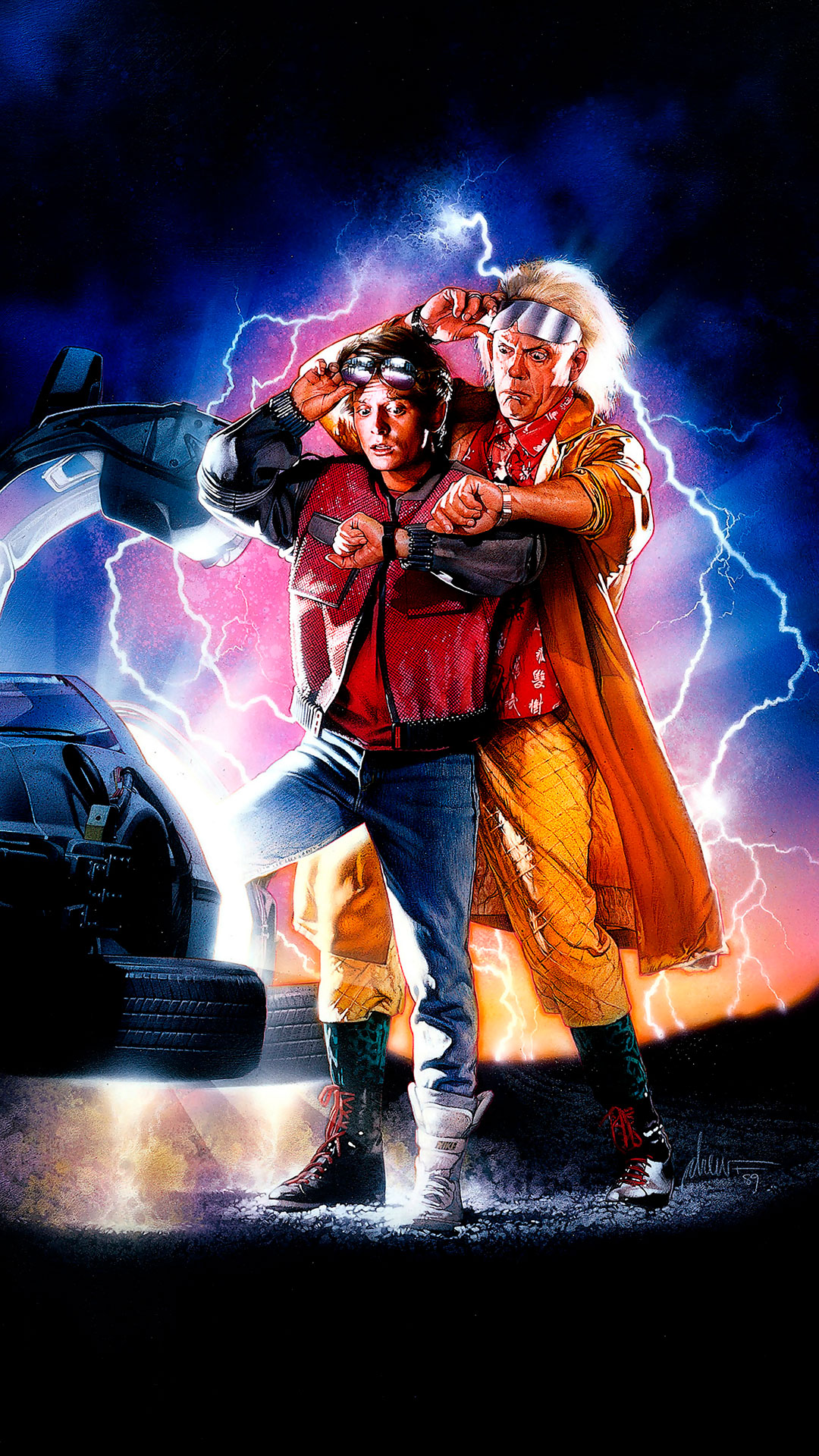 iPhone wallpaper back to the future doc marty Back to the Future