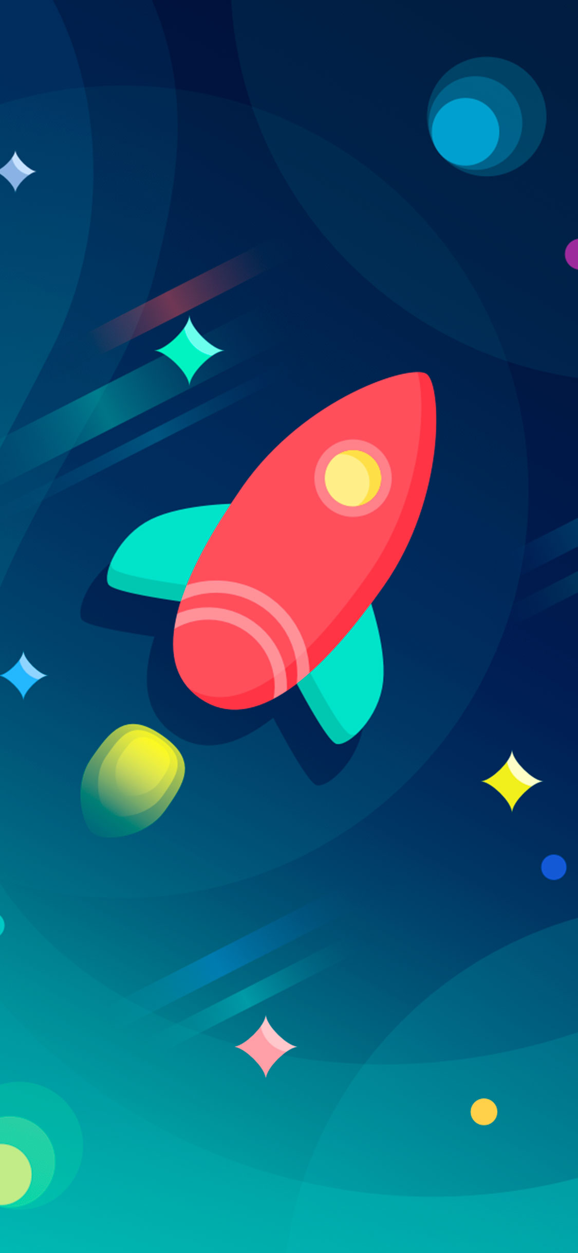 iPhone wallpaper illustration rocket Illustration