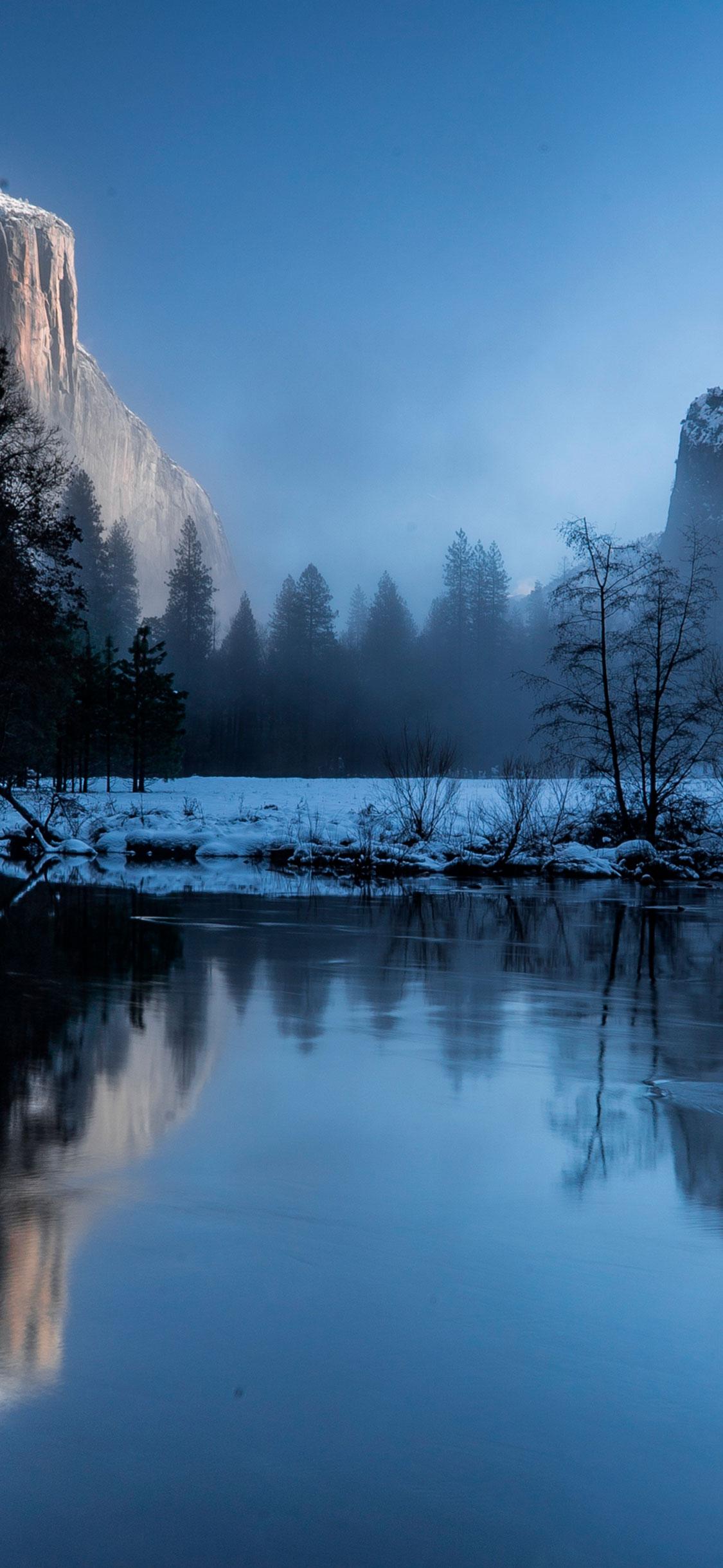 iPhone wallpaper mountain lake snow Mountains