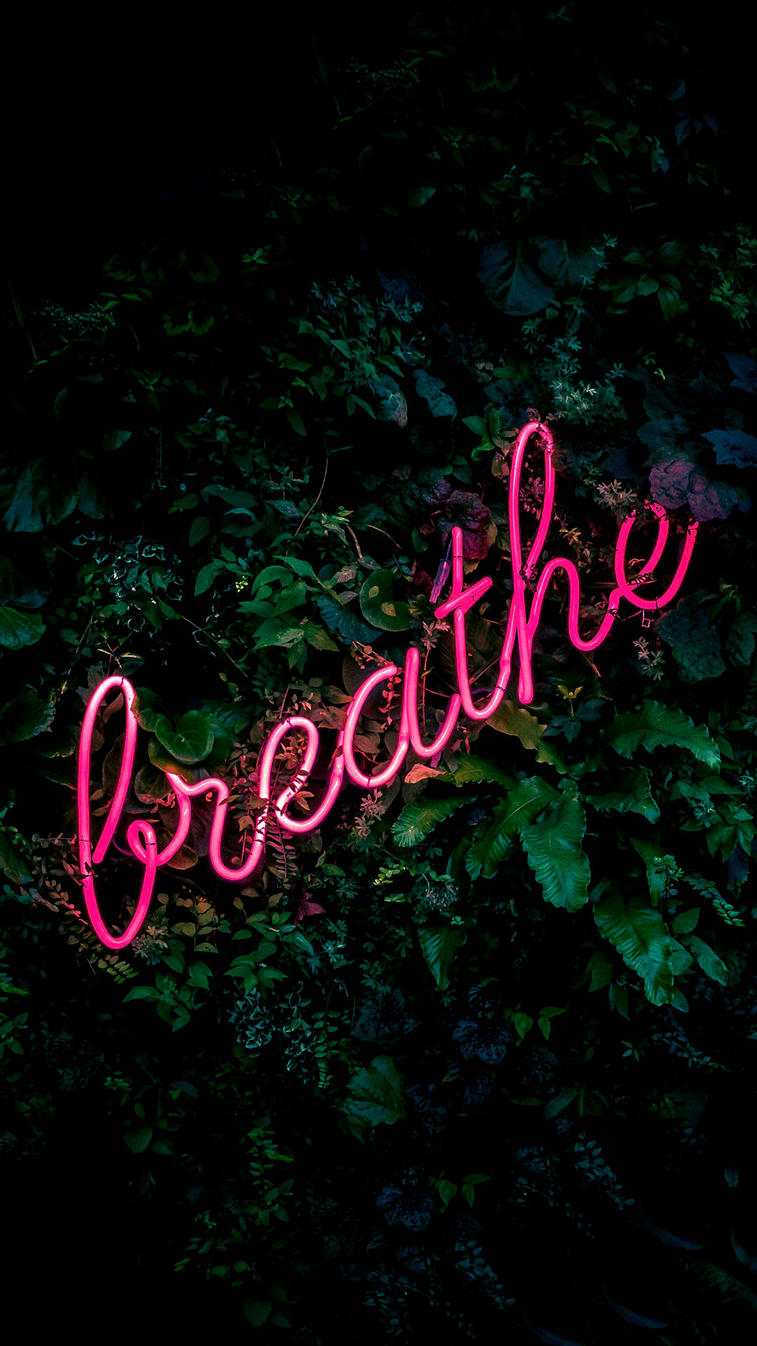 iPhone wallpaper neon sign breathe Fonds d'écran iPhone du 09/05/2018