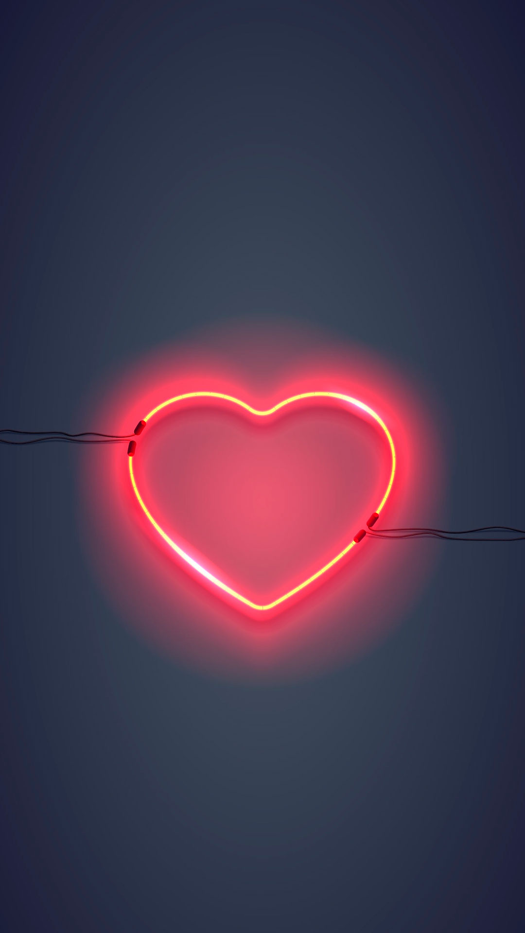 iPhone wallpaper neon sign heart Fonds d'écran iPhone du 09/05/2018