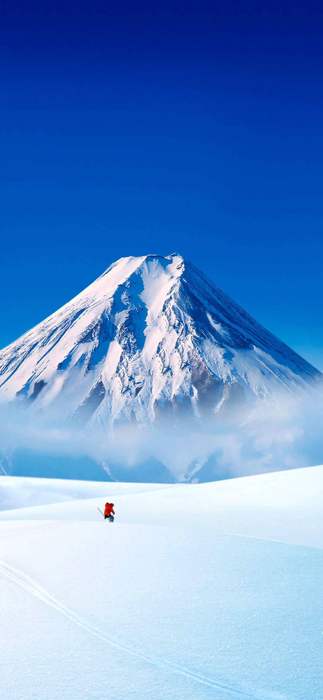 iPhone wallpapers volcano snow Mountains