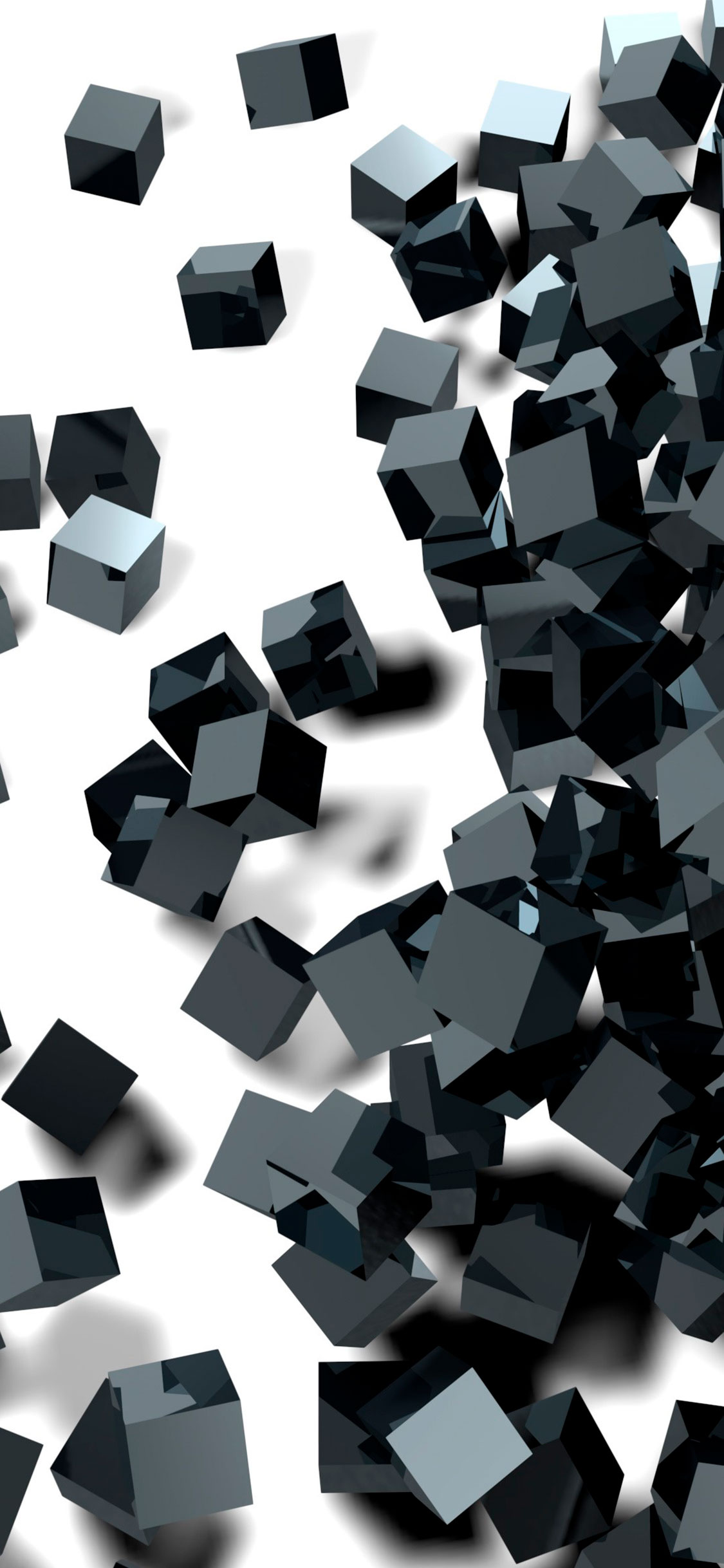 iPhone wallpaper black white cubes Abstract