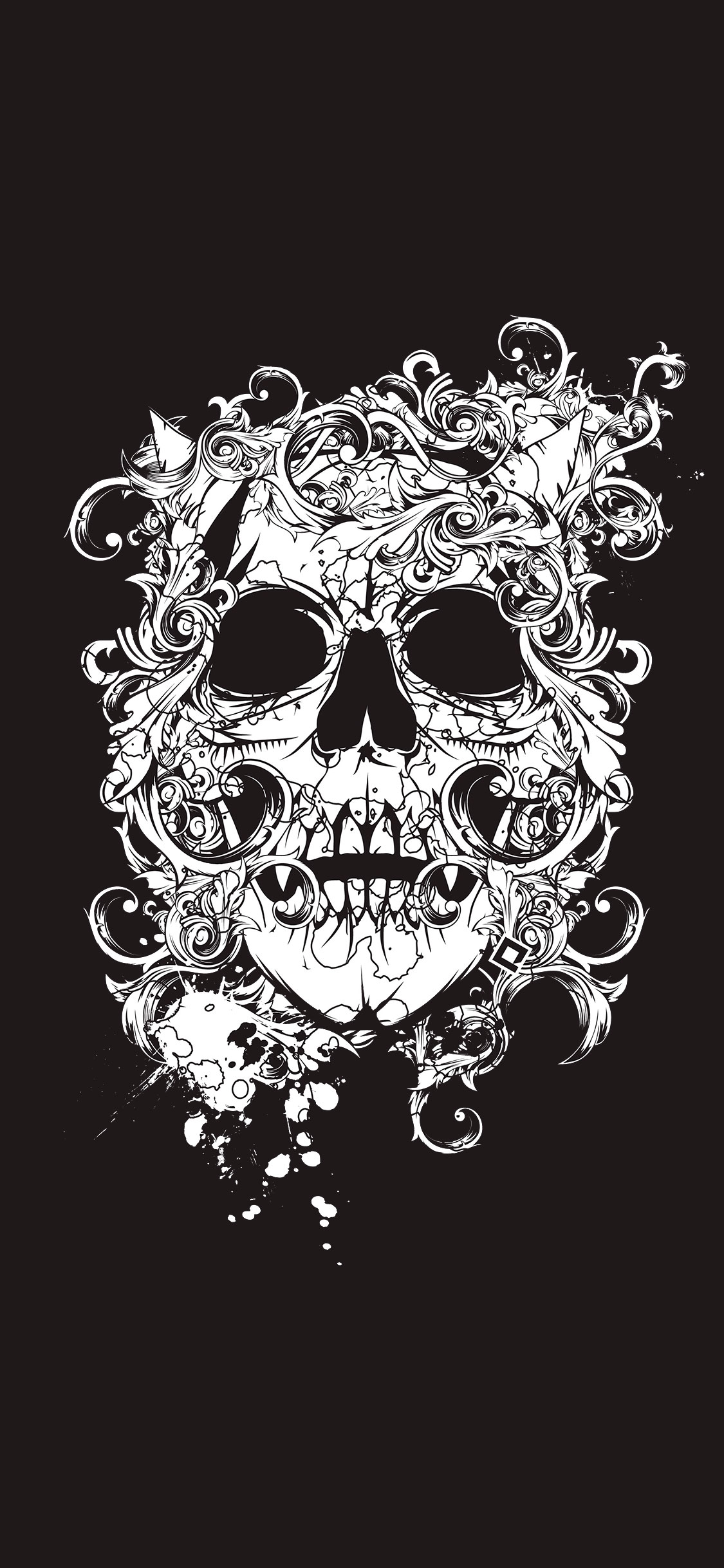 iPhone wallpaper illustration skull Illustration