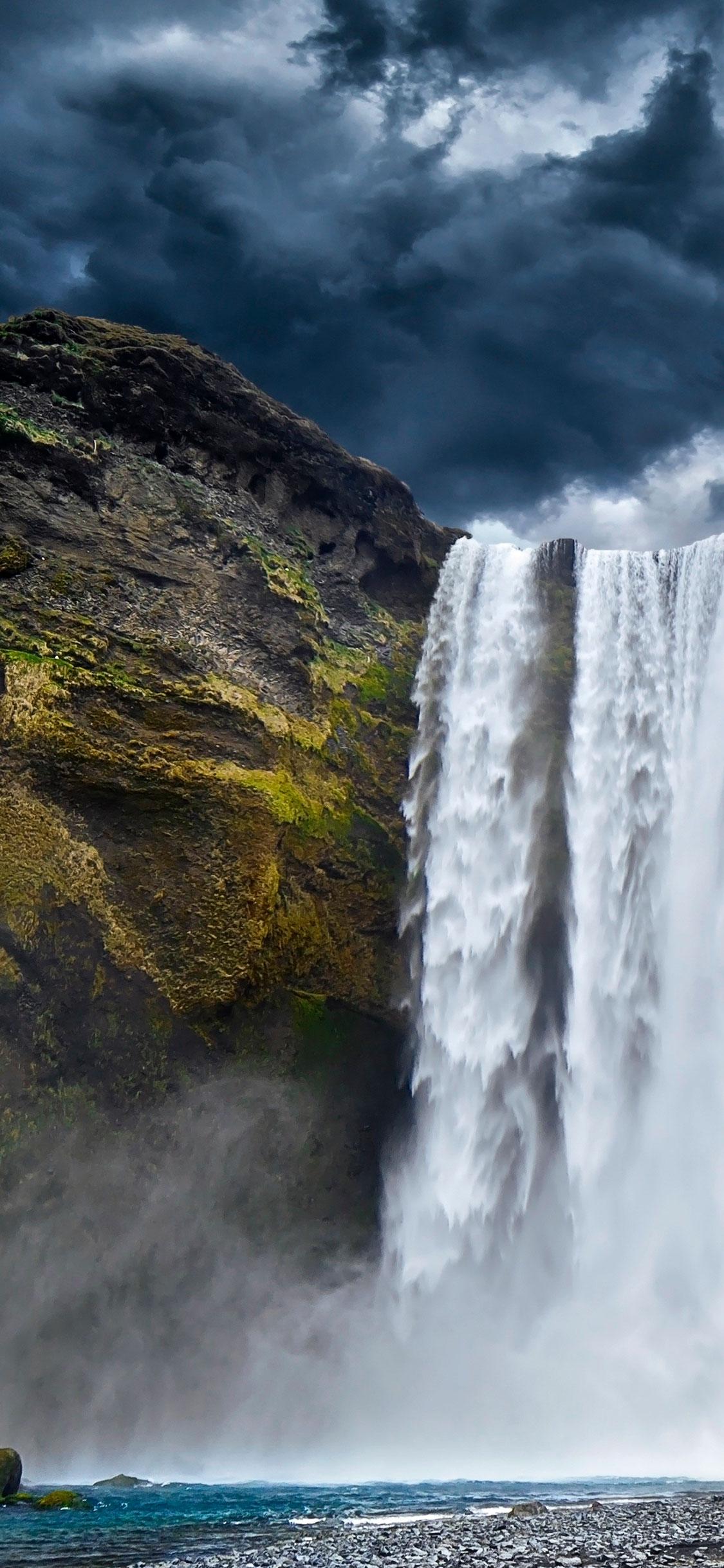 iPhone wallpaper waterfall river Fonds d'écran iPhone du 20/06/2018