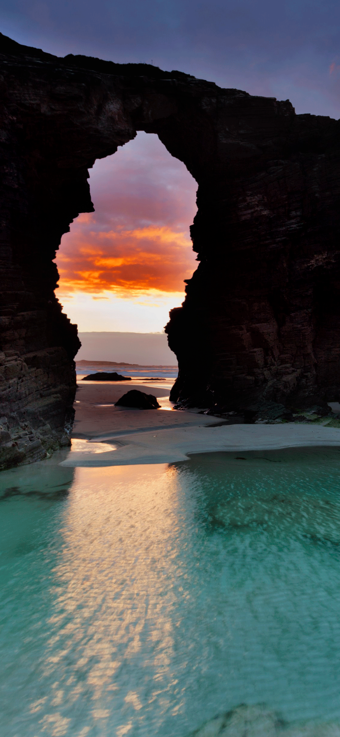 iPhone wallpaper beach las catedrales Beach