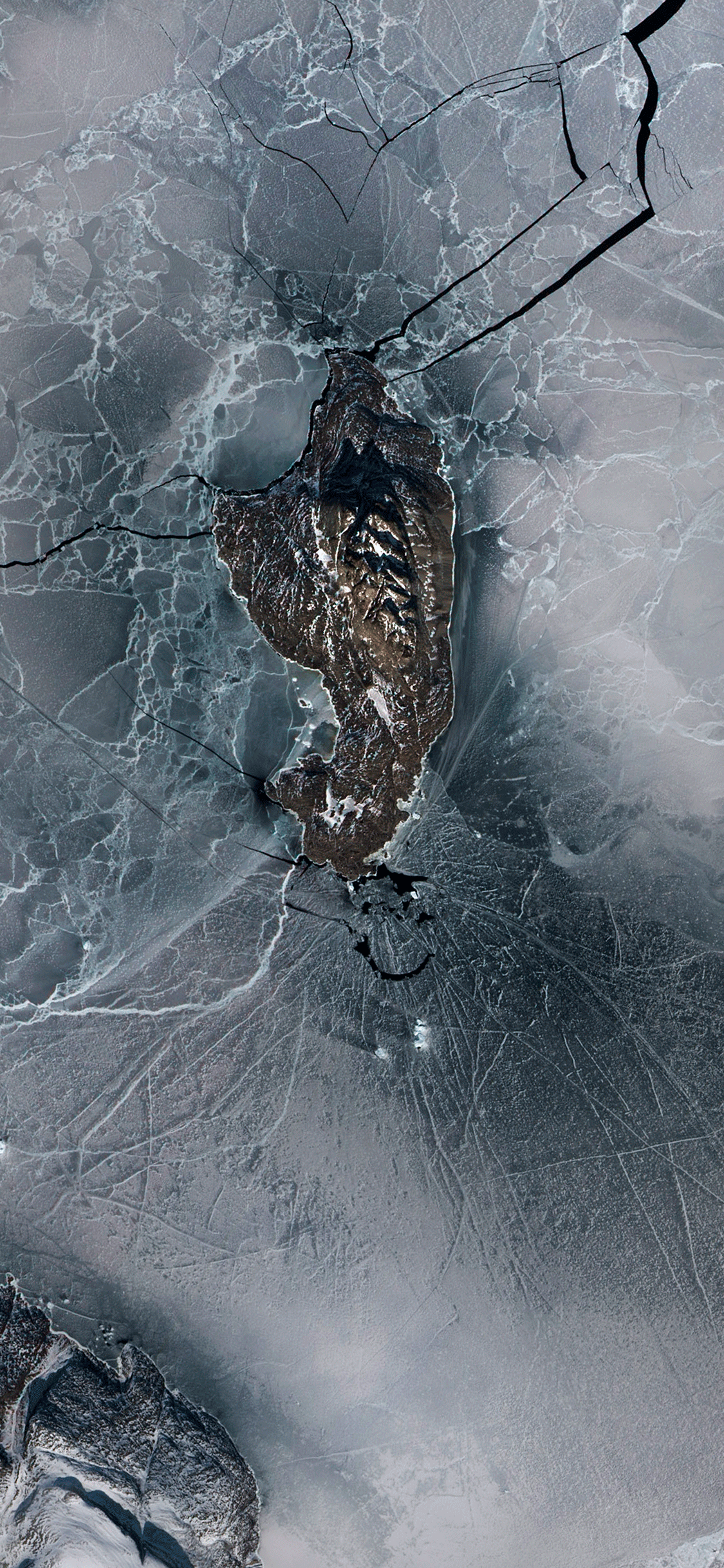 iPhone wallpaper photos satellites uumannaq island Satellite images
