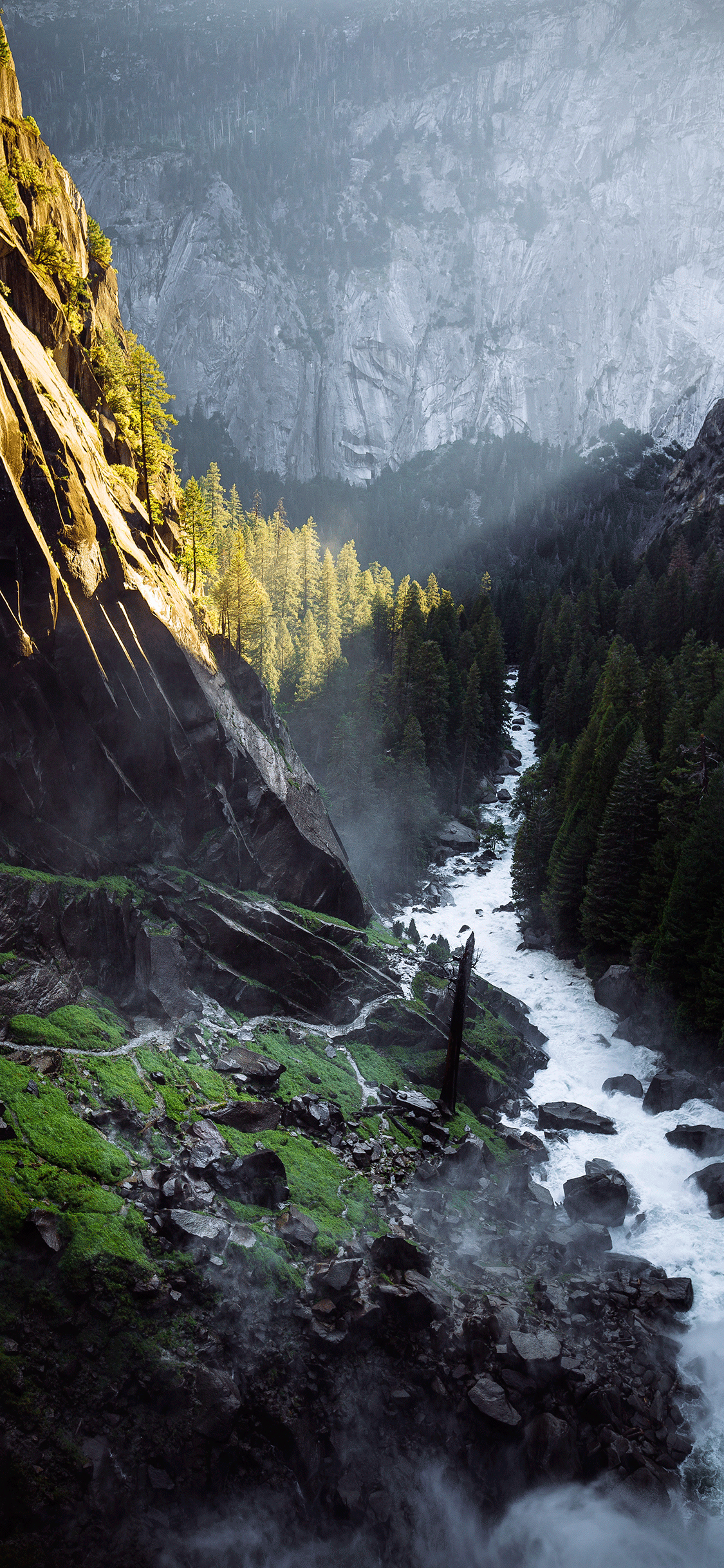 iPhone wallpaper river vernal falls Fonds d'écran iPhone du 19/07/2018