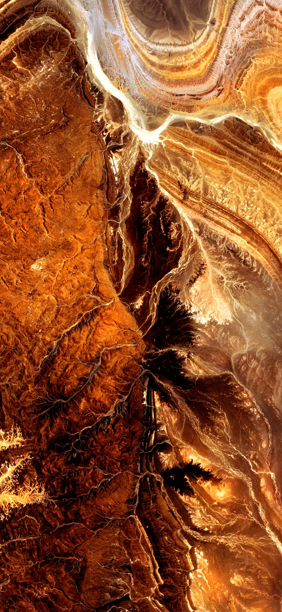 iPhone wallpaper satellite images algerian sahara Fonds d'écran iPhone du 11/07/2018