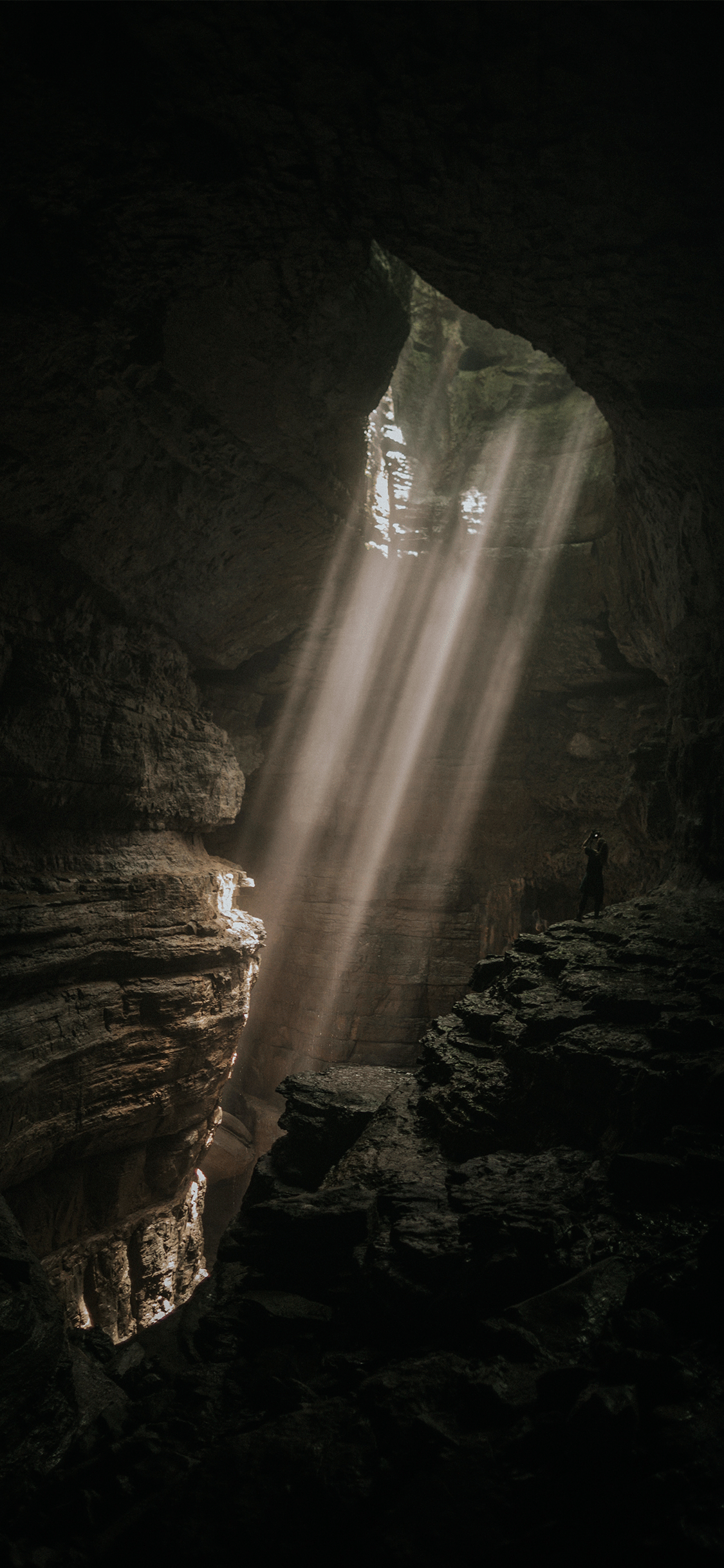 iPhone wallpaper cave light Cave
