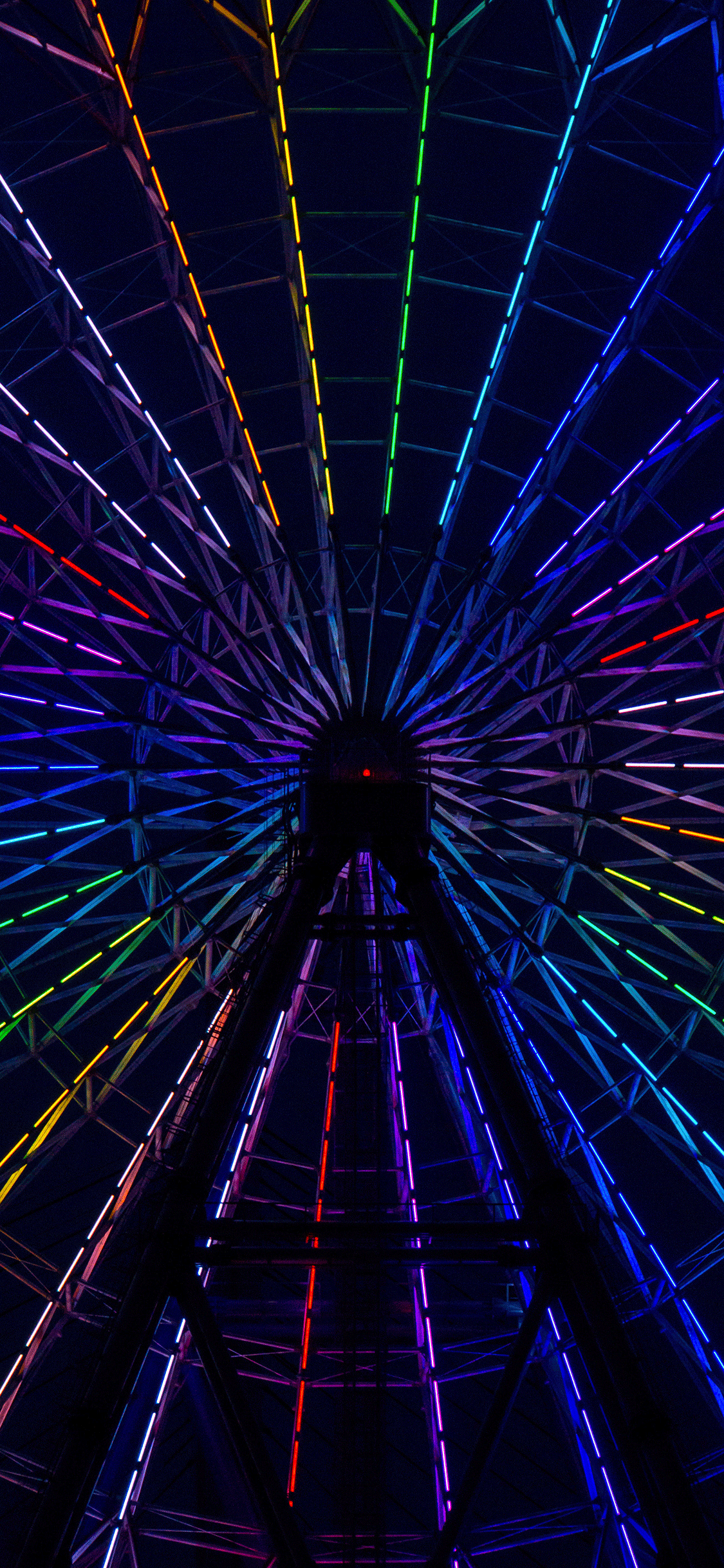 iPhone wallpaper neon wheel colorful Fonds d'écran iPhone du 03/08/2018