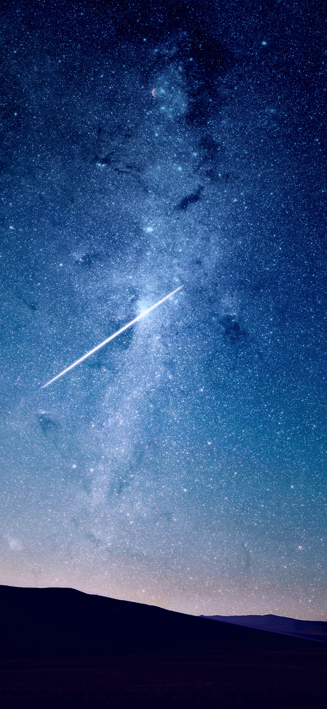 iPhone wallpaper shooting star blue Shooting star