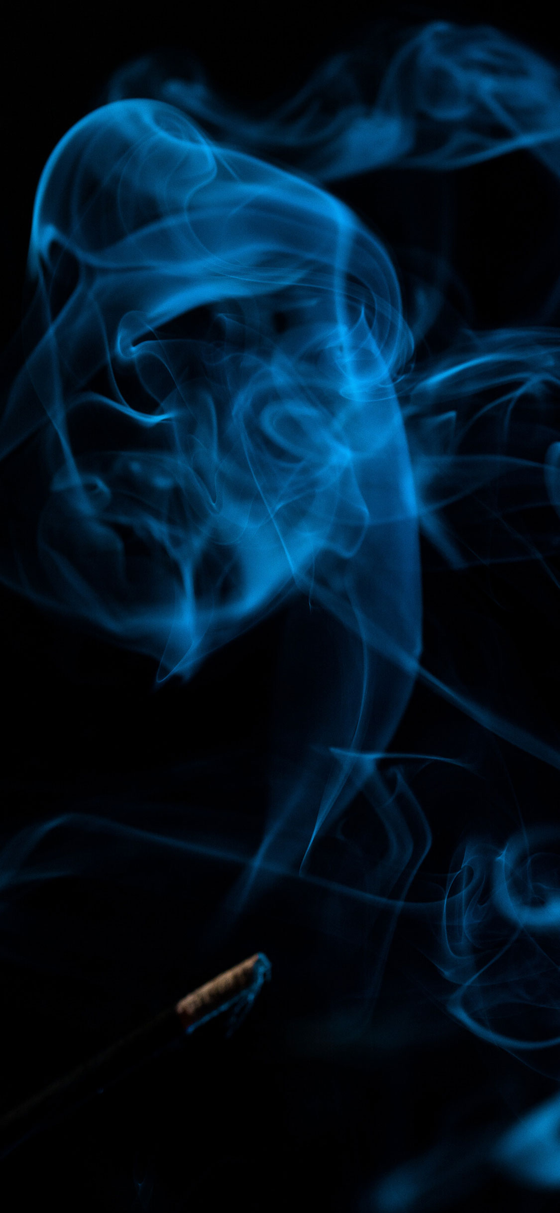 iPhone wallpaper smoke blue Fonds d'écran iPhone du 02/08/2018
