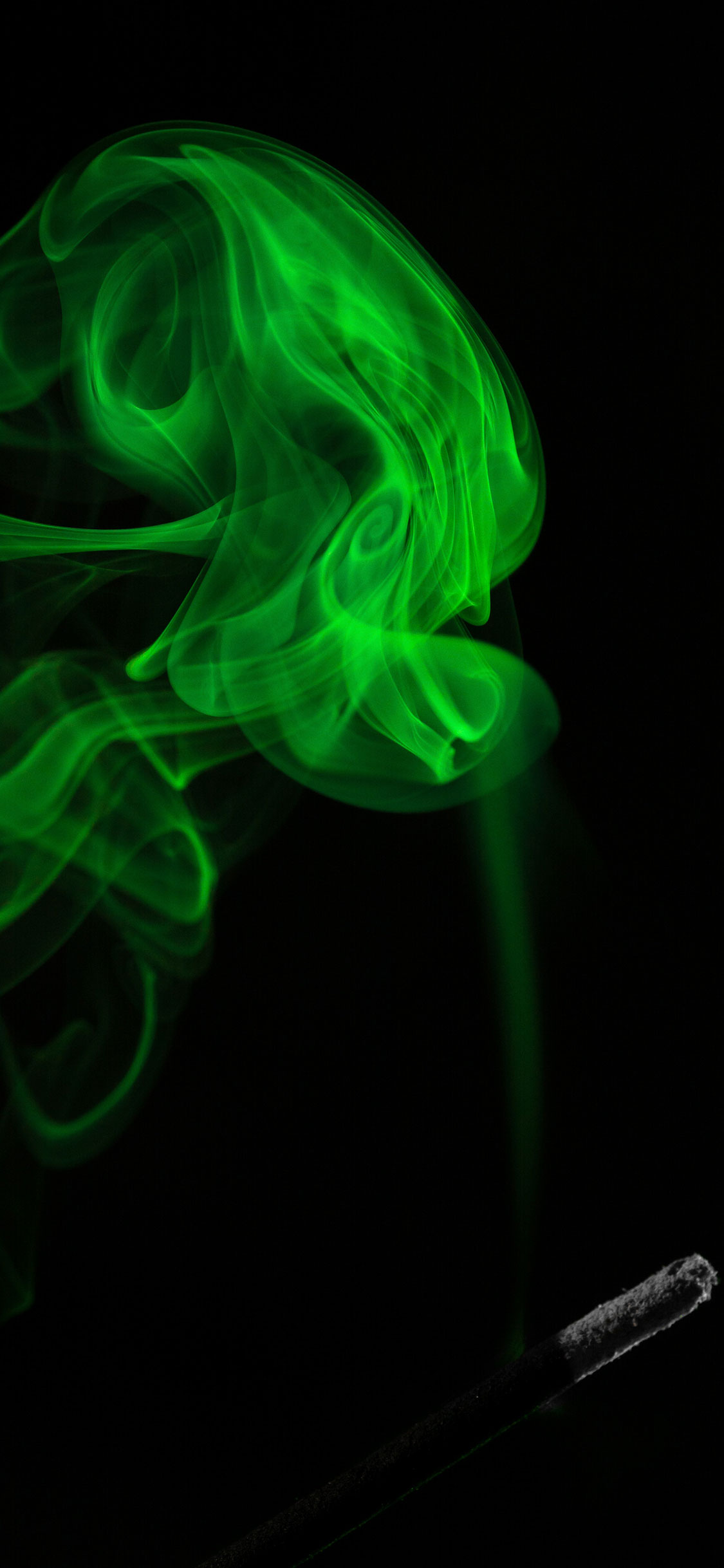 iPhone wallpaper smoke green Fonds d'écran iPhone du 02/08/2018