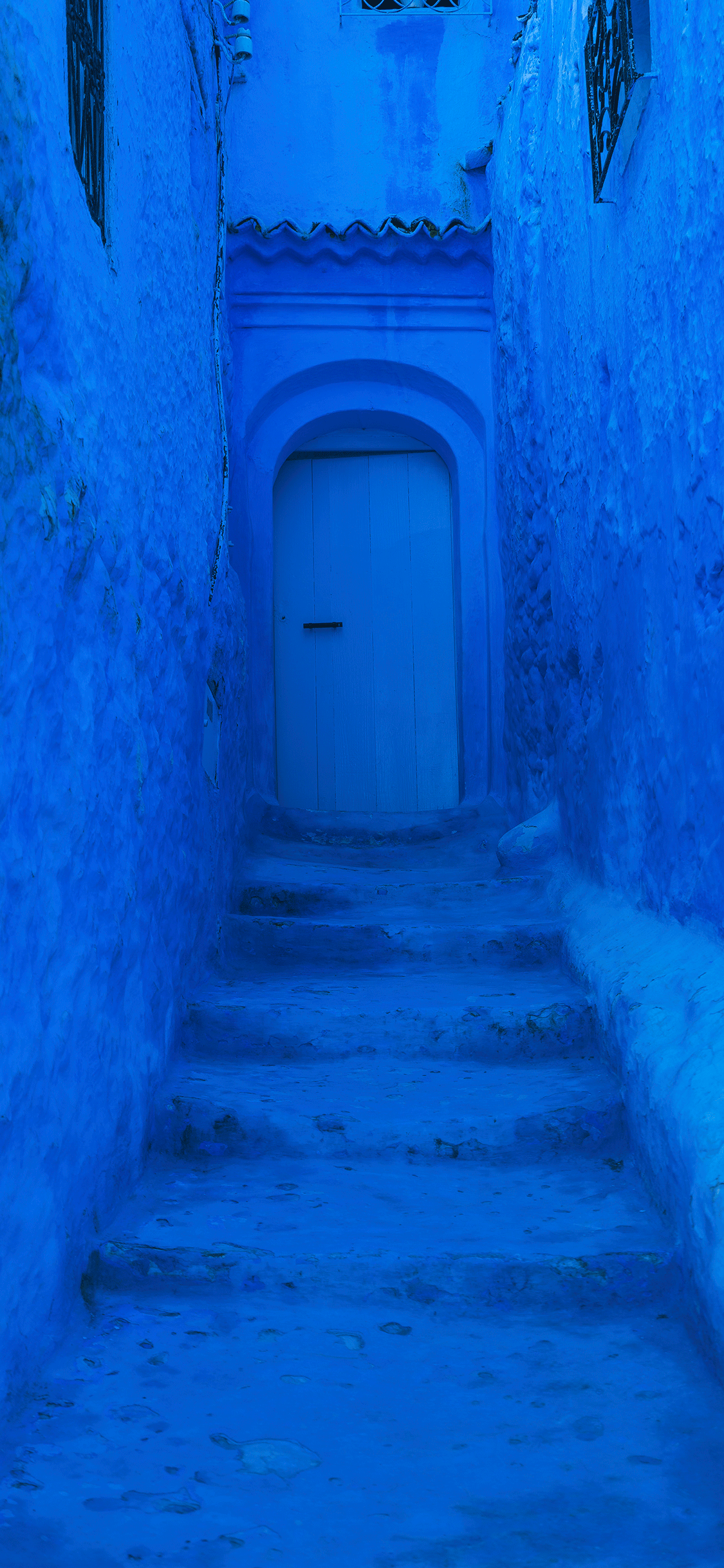 iPhone wallpaper blue door Blue