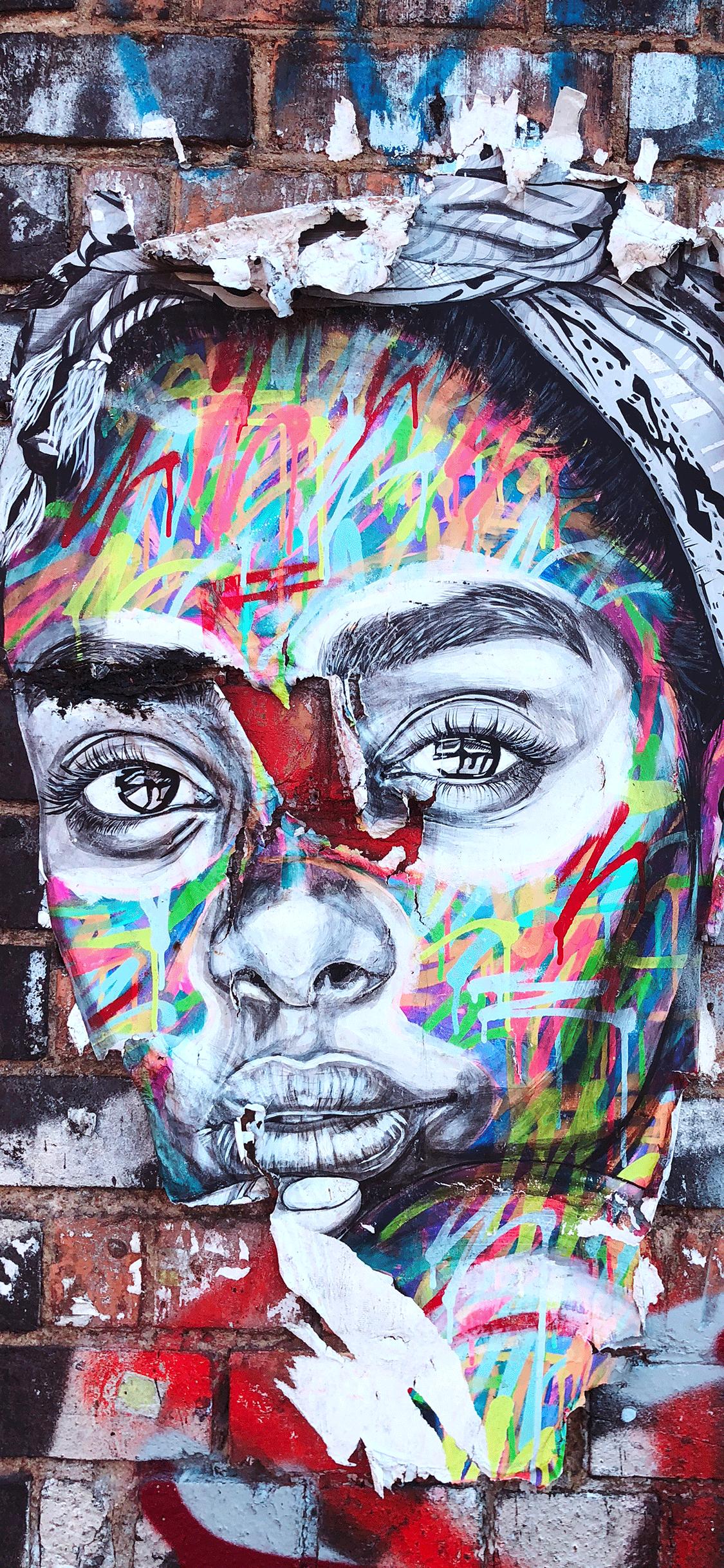IPhone Wallpaper Graffiti Woman