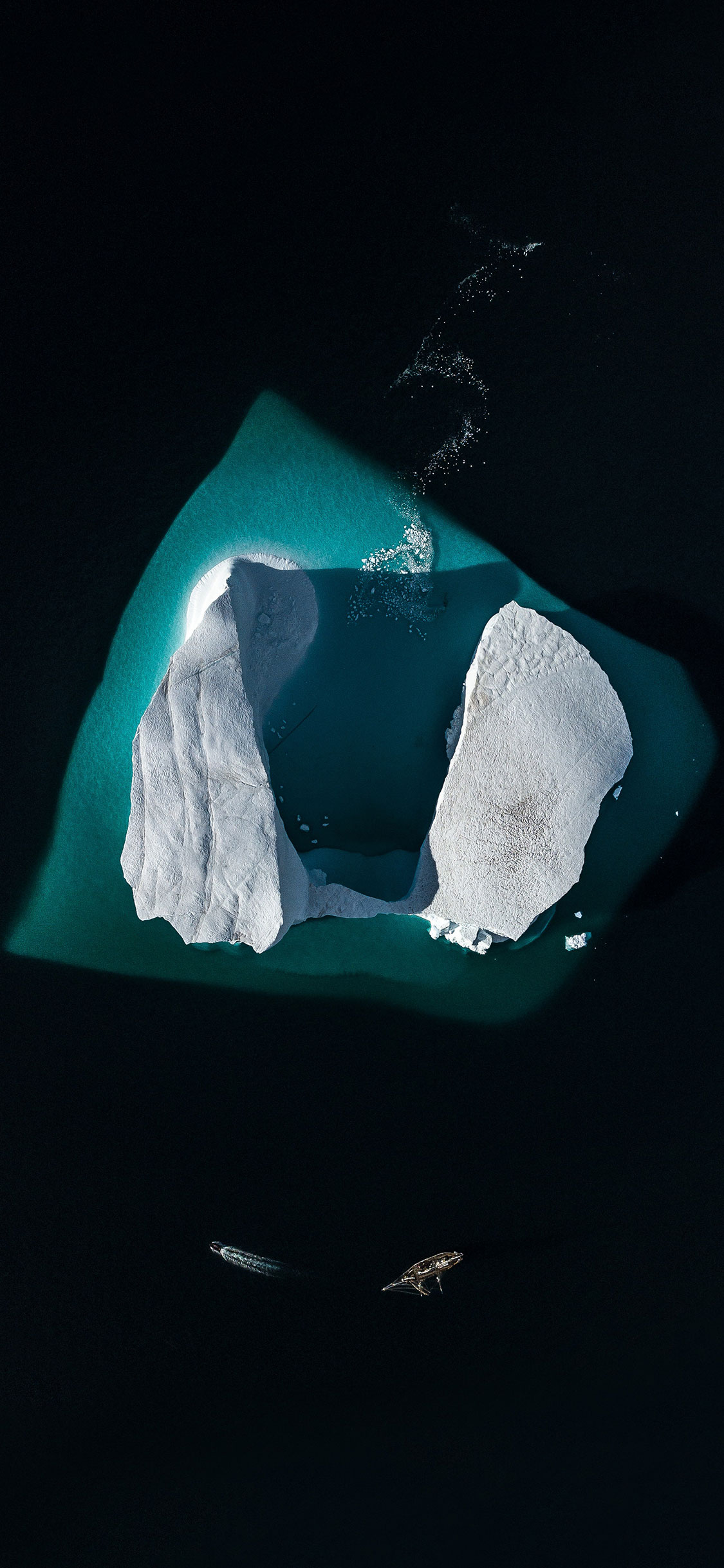 iPhone wallpaper iceberg black Fonds d'écran iPhone du 05/09/2018
