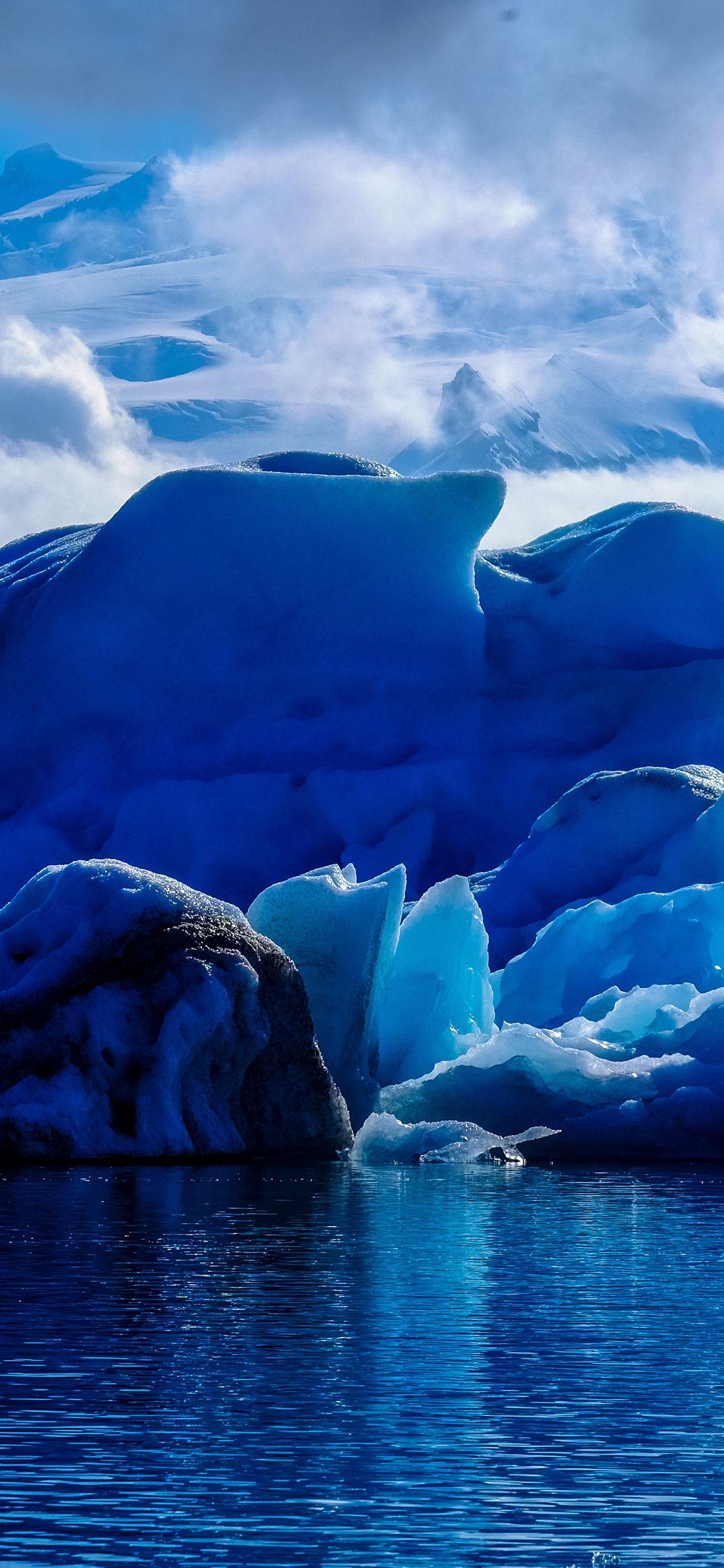 iPhone wallpaper iceberg blue Iceberg