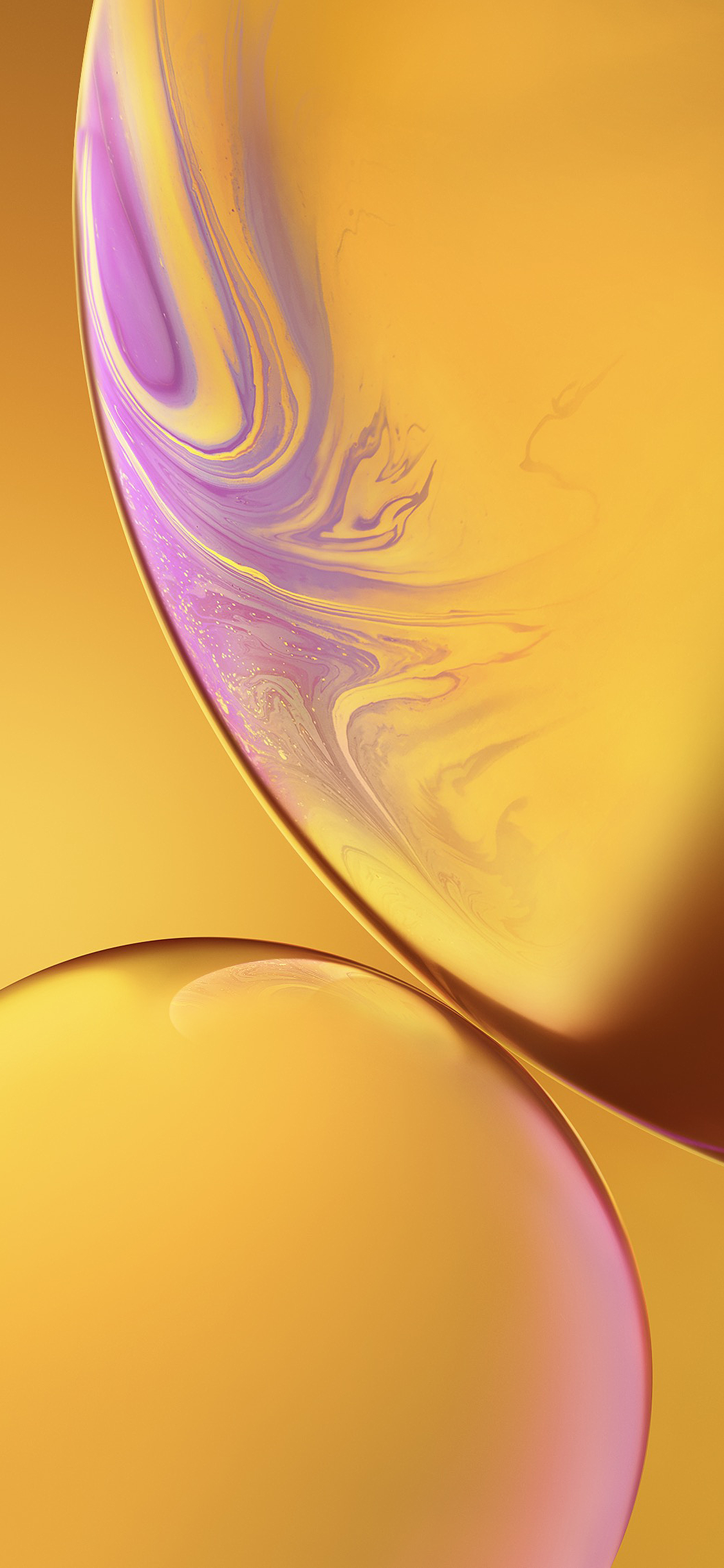 iPhone wallpaper ios 12 wallpapers yellow iOS 12 Wallpapers
