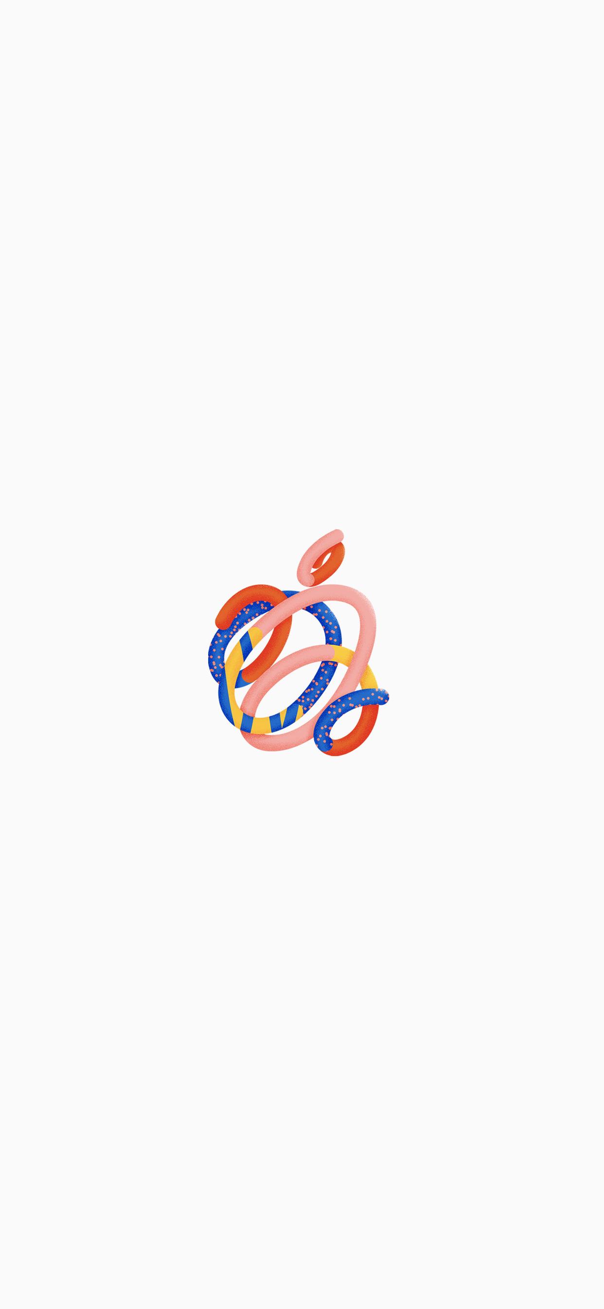 1 Fonds d'écran avec le logo Apple pour iPhone