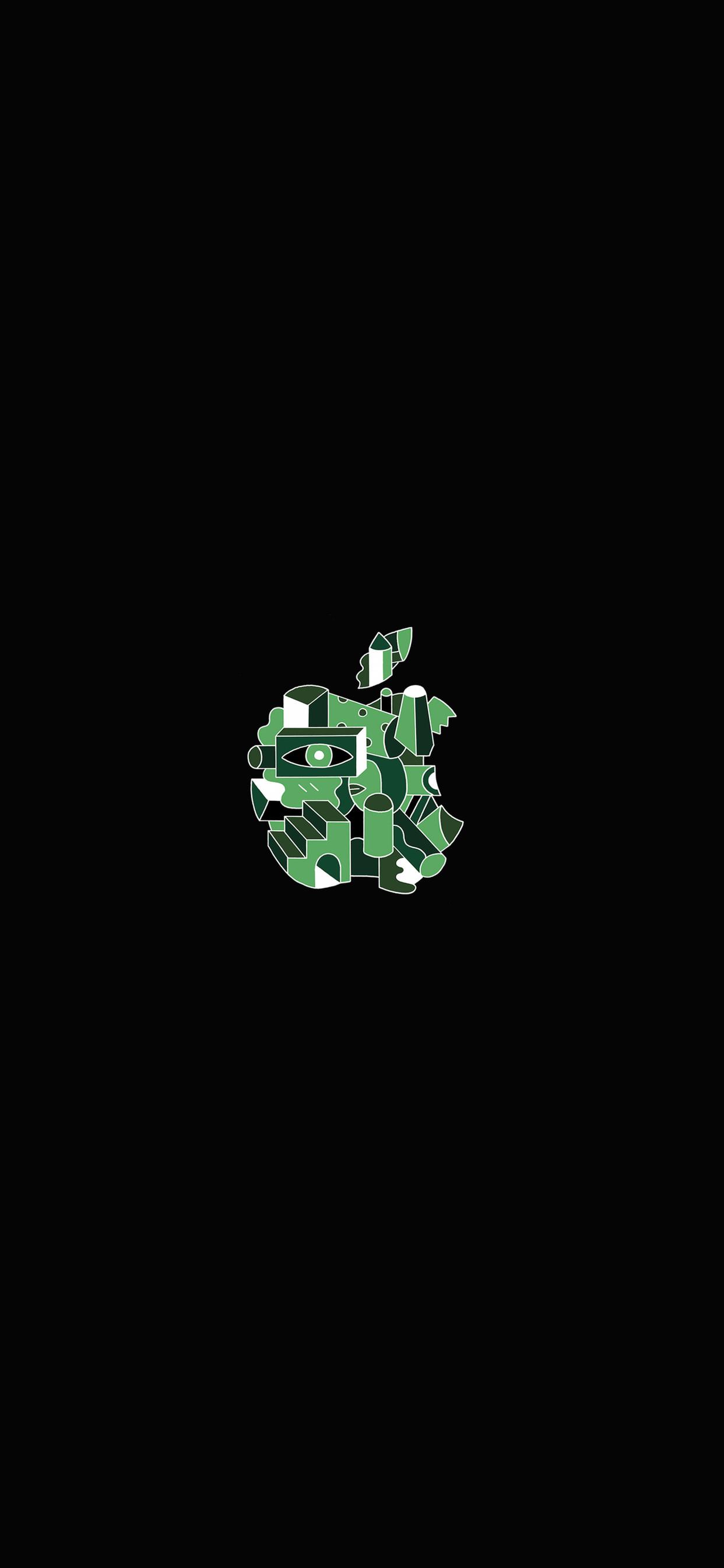 iPhone wallpaper apple logo 10 Fonds décran noirs avec le logo Apple en très haute résolution