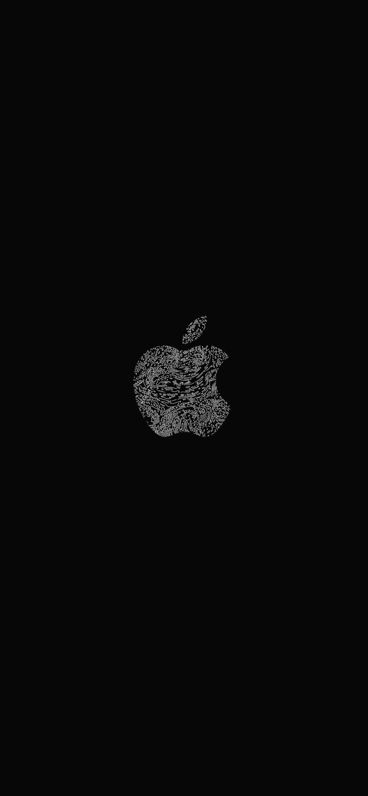 iPhone wallpaper apple logo 11 Fonds décran noirs avec le logo Apple en très haute résolution
