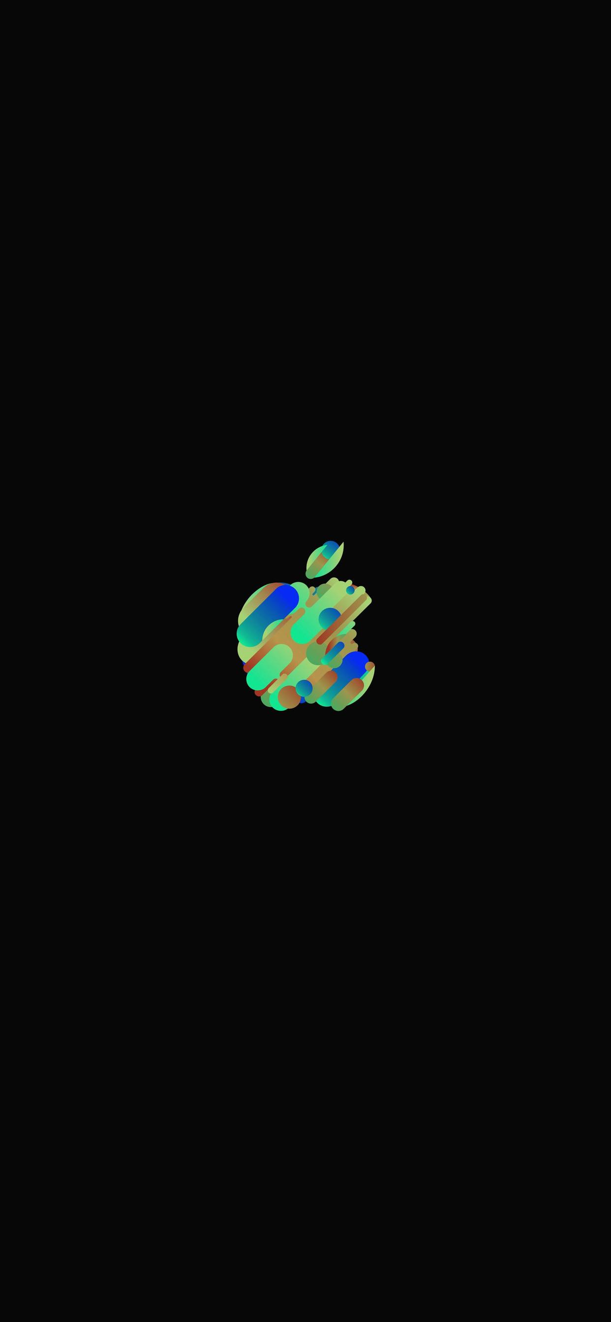 iPhone wallpaper apple logo 12 Fonds décran noirs avec le logo Apple en très haute résolution