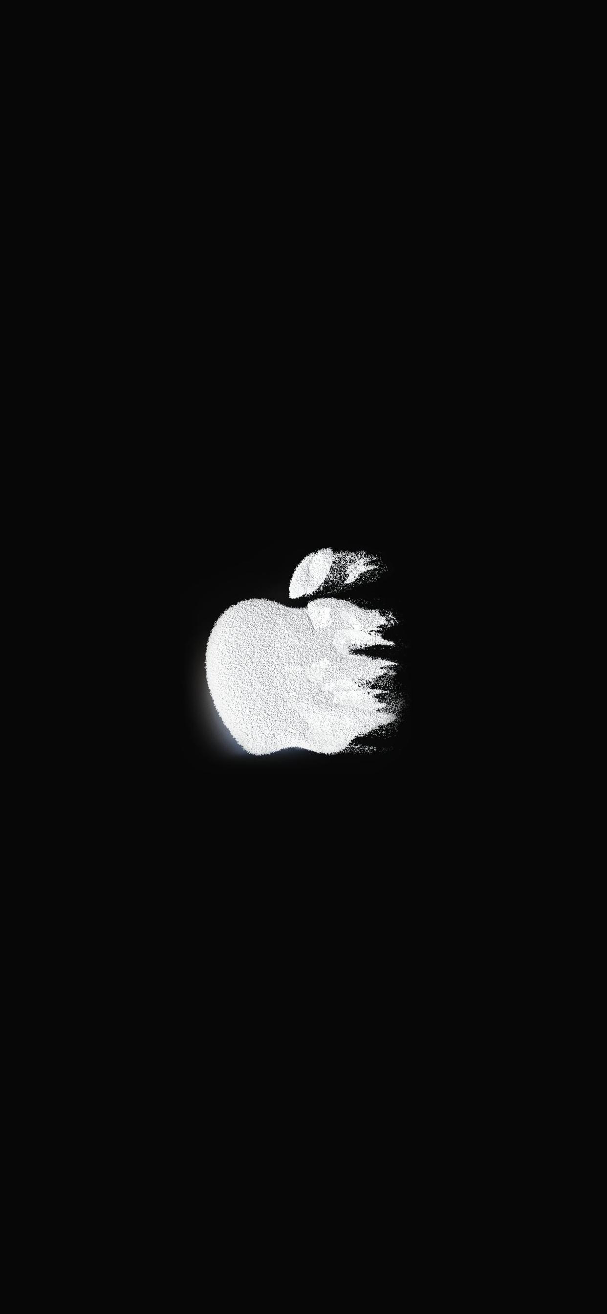 iPhone wallpaper apple logo 15 Fonds décran noirs avec le logo Apple en très haute résolution