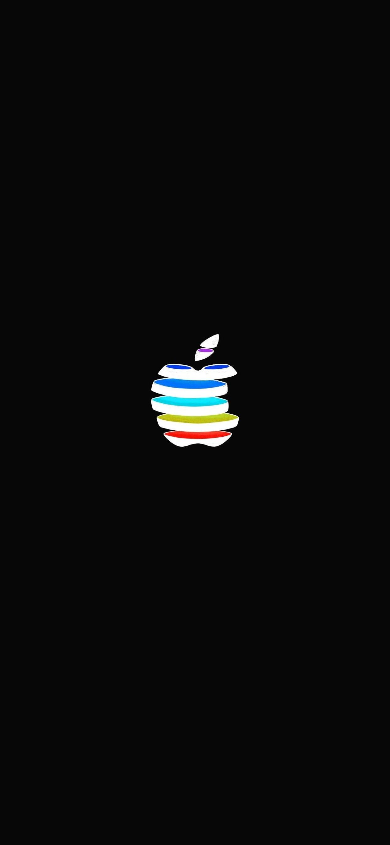 iPhone wallpaper apple logo 16 Fonds décran noirs avec le logo Apple en très haute résolution