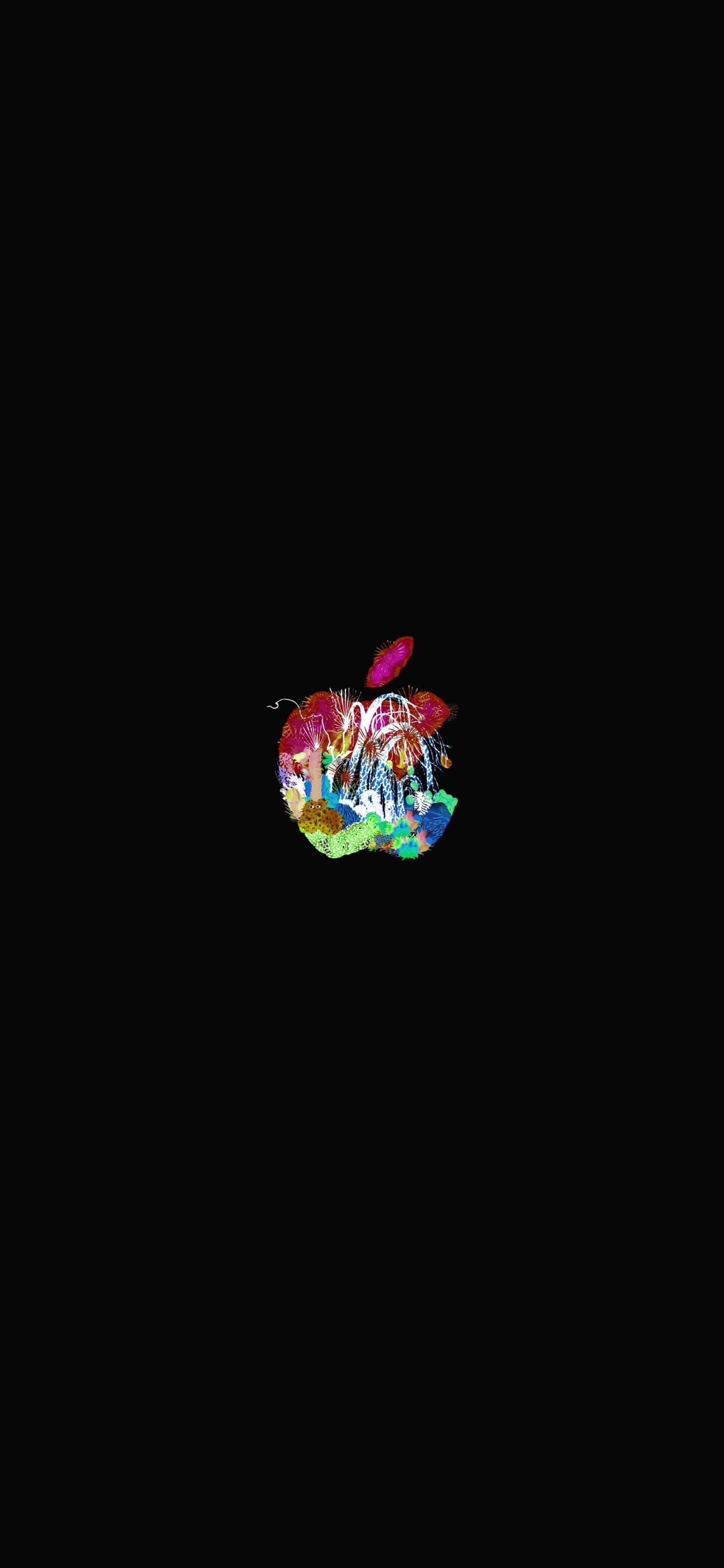 iPhone wallpaper apple logo 21 Fonds décran noirs avec le logo Apple en très haute résolution