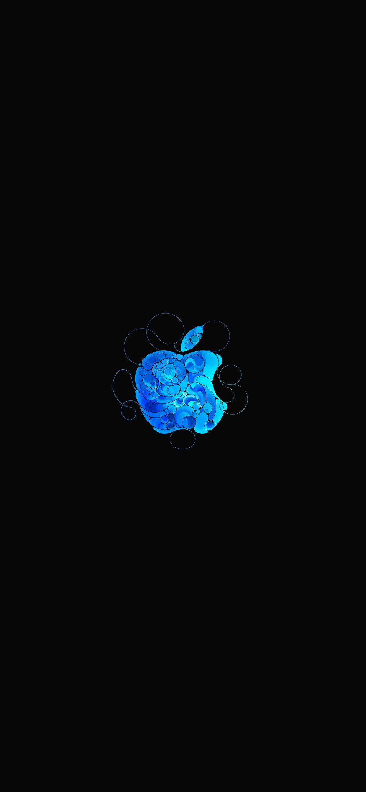iPhone wallpaper apple logo 23 Fonds décran noirs avec le logo Apple en très haute résolution
