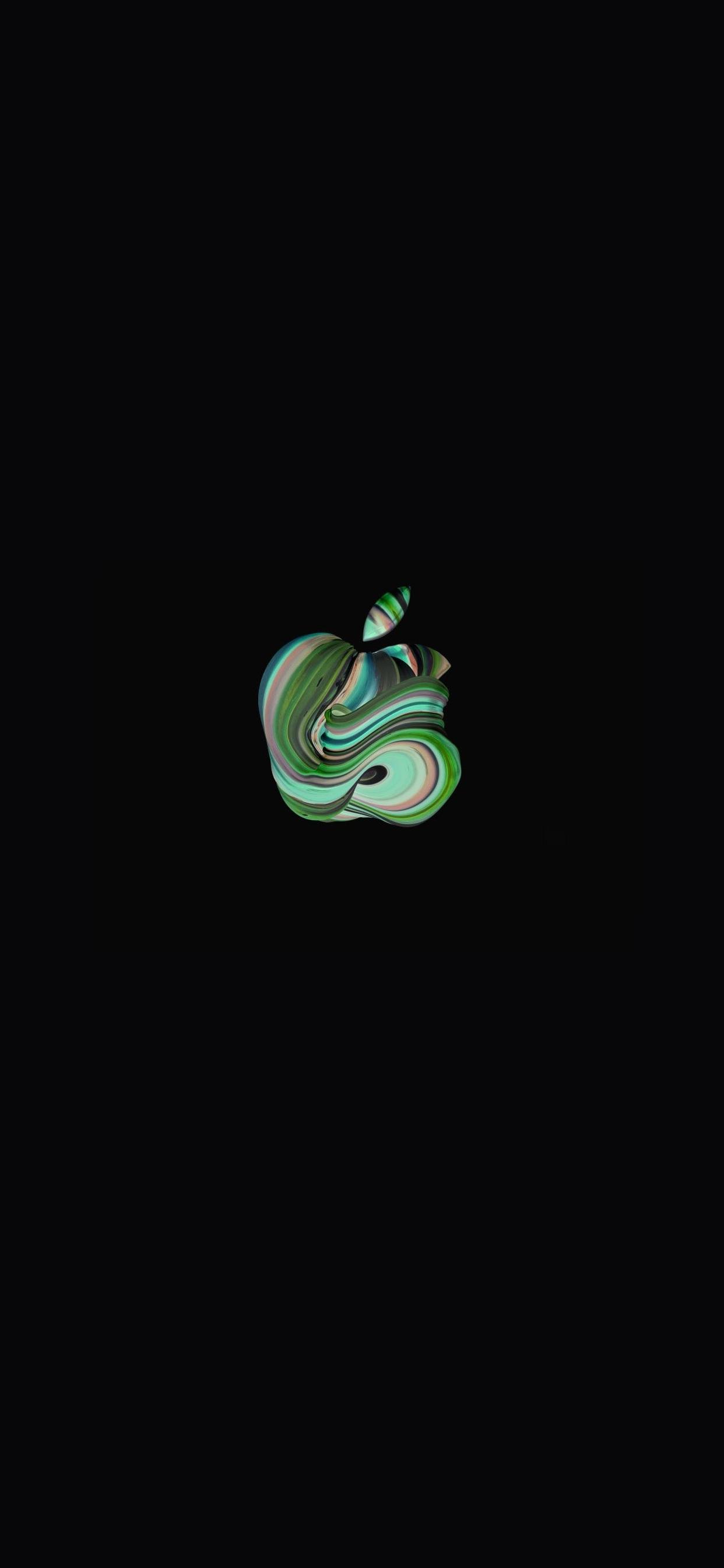 iPhone wallpaper apple logo 27 Fonds décran noirs avec le logo Apple en très haute résolution