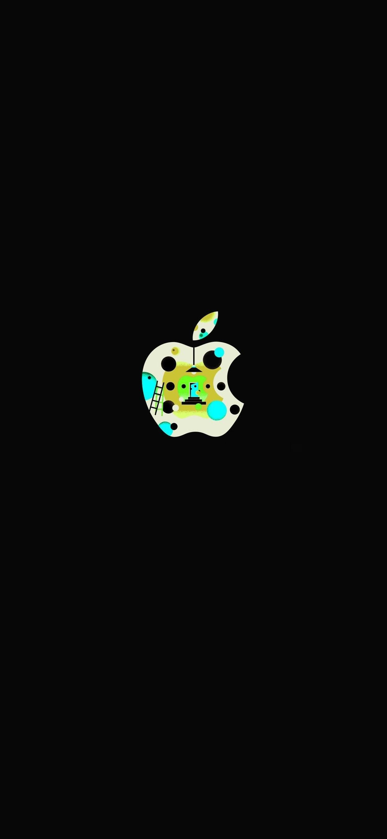 iPhone wallpaper apple logo 28 Fonds décran noirs avec le logo Apple en très haute résolution