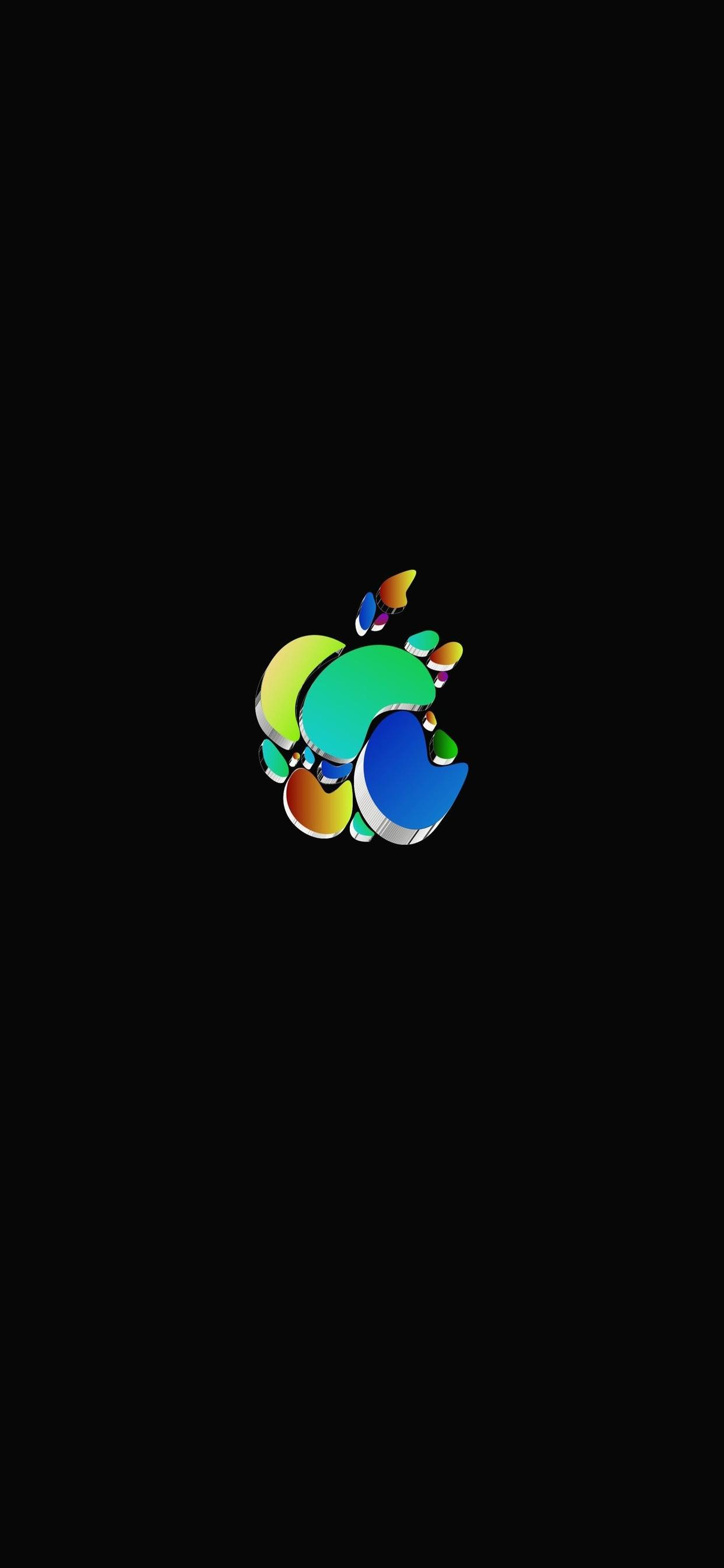 iPhone wallpaper apple logo 29 Fonds décran noirs avec le logo Apple en très haute résolution