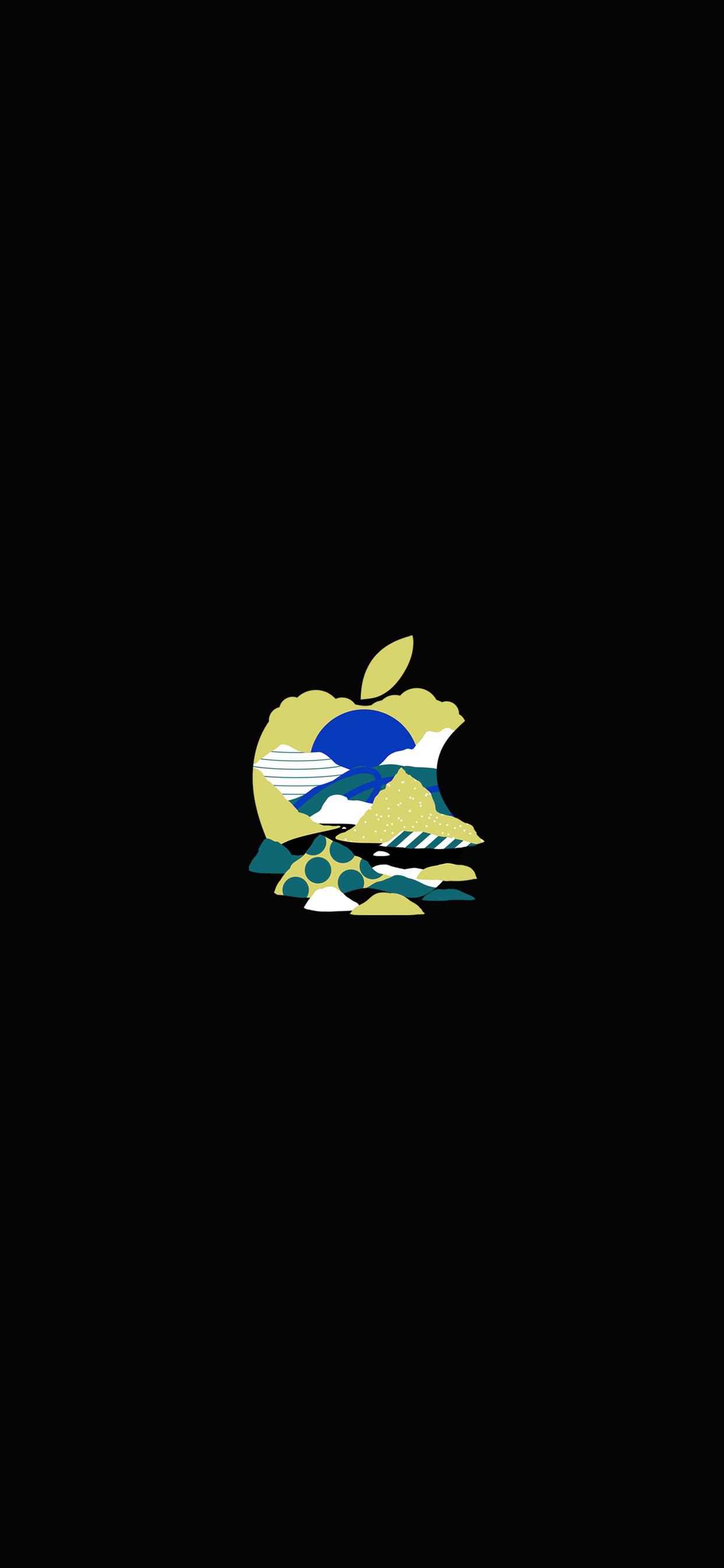 iPhone wallpaper apple logo 7 Fonds décran noirs avec le logo Apple en très haute résolution