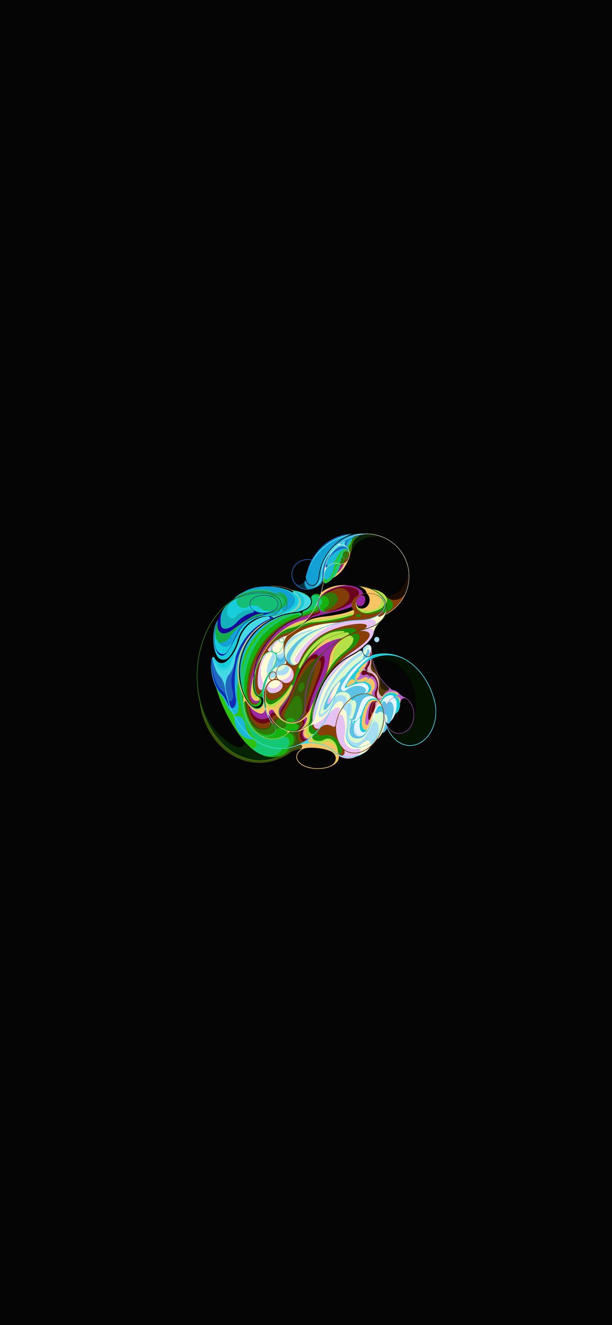 iPhone wallpaper apple logo 8 Fonds décran noirs avec le logo Apple en très haute résolution
