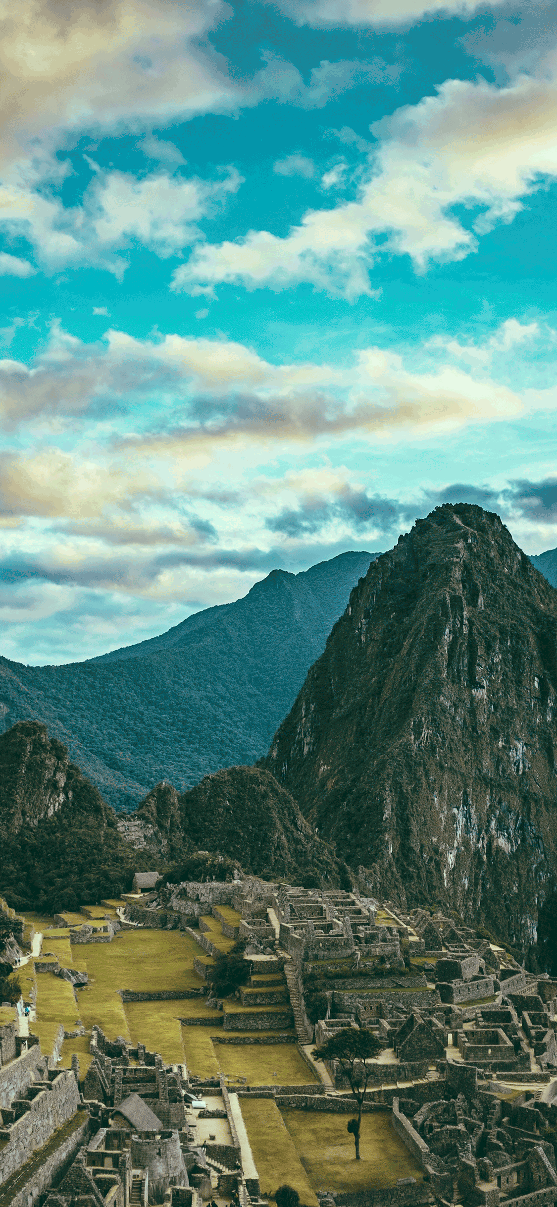 iPhone wallpaper machu picchu clouds Machu Picchu