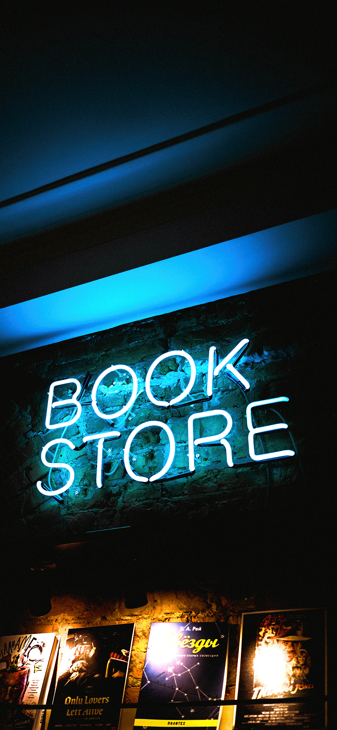 iPhone wallpaper neon sign book store Fonds d'écran iPhone du 19/10/2018