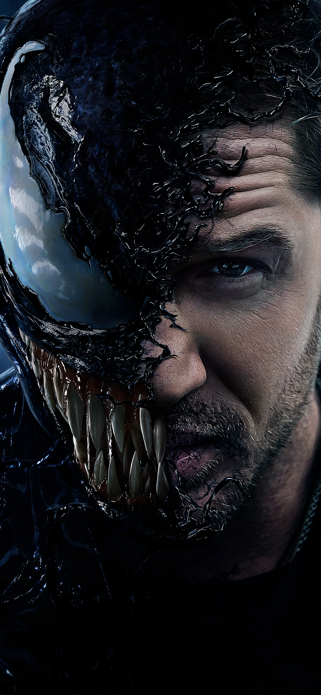 iPhone wallpaper venom movie face Fonds d'écran iPhone du 10/10/2018