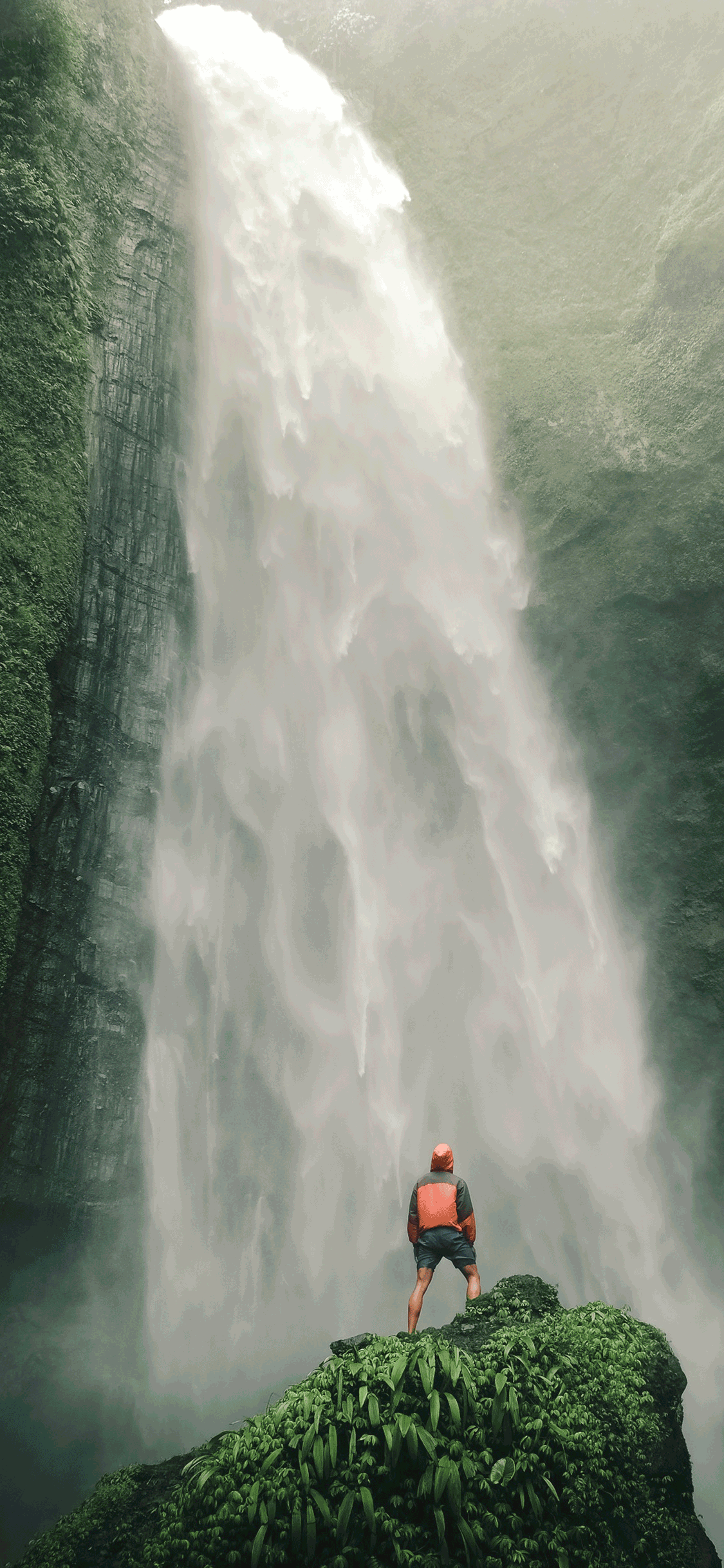 iPhone wallpaper waterfall kabut pelangi Waterfall