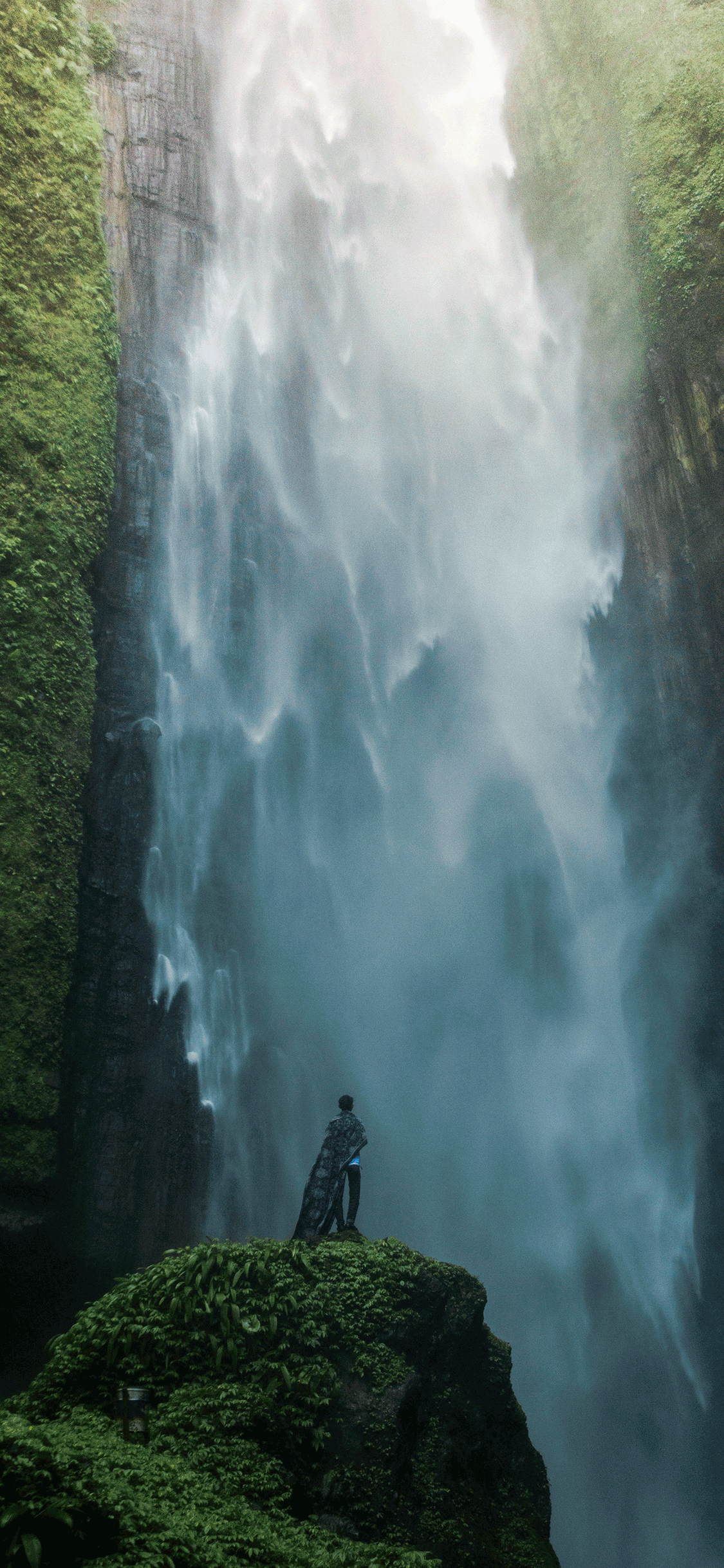 iPhone wallpaper waterfall lumajang Waterfall