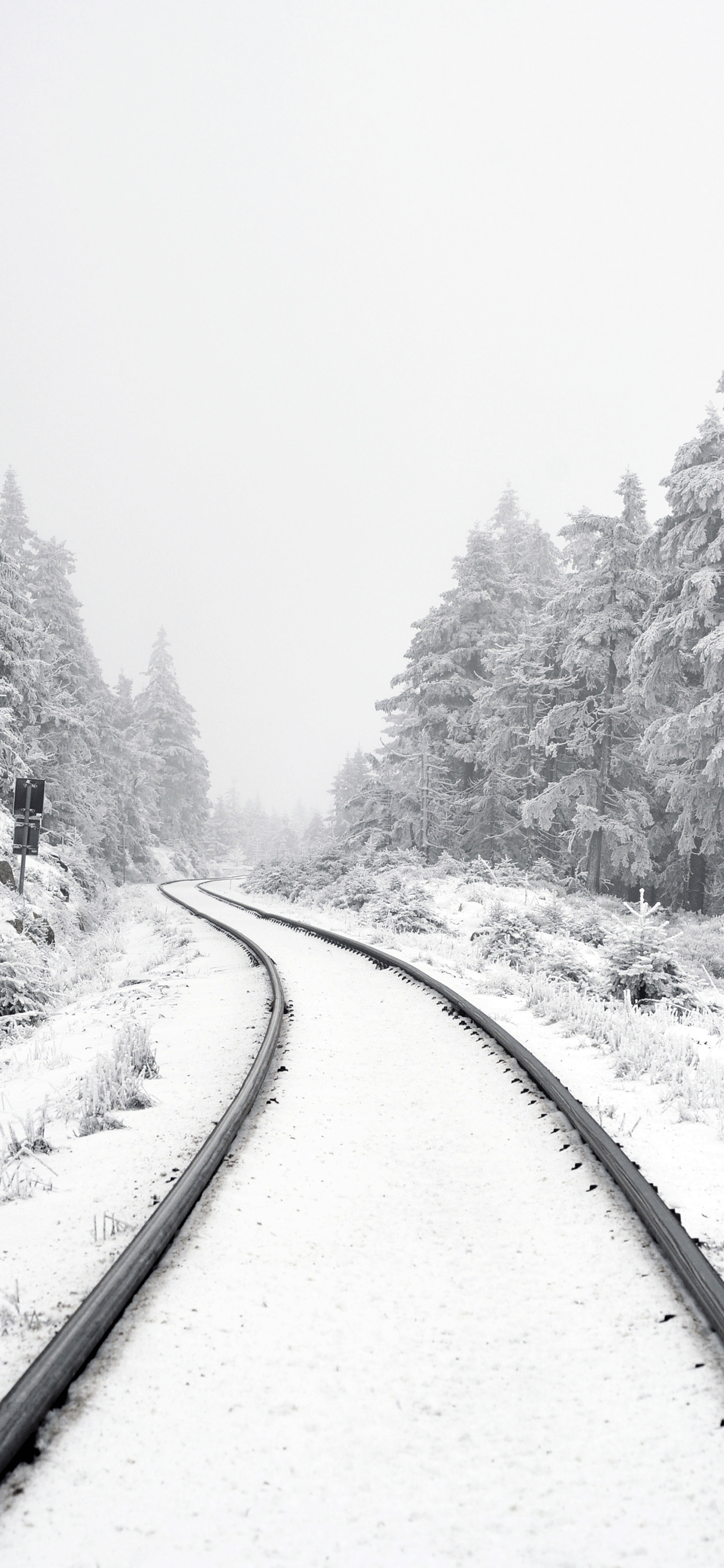 iPhone wallpaper rail way harz Railway line