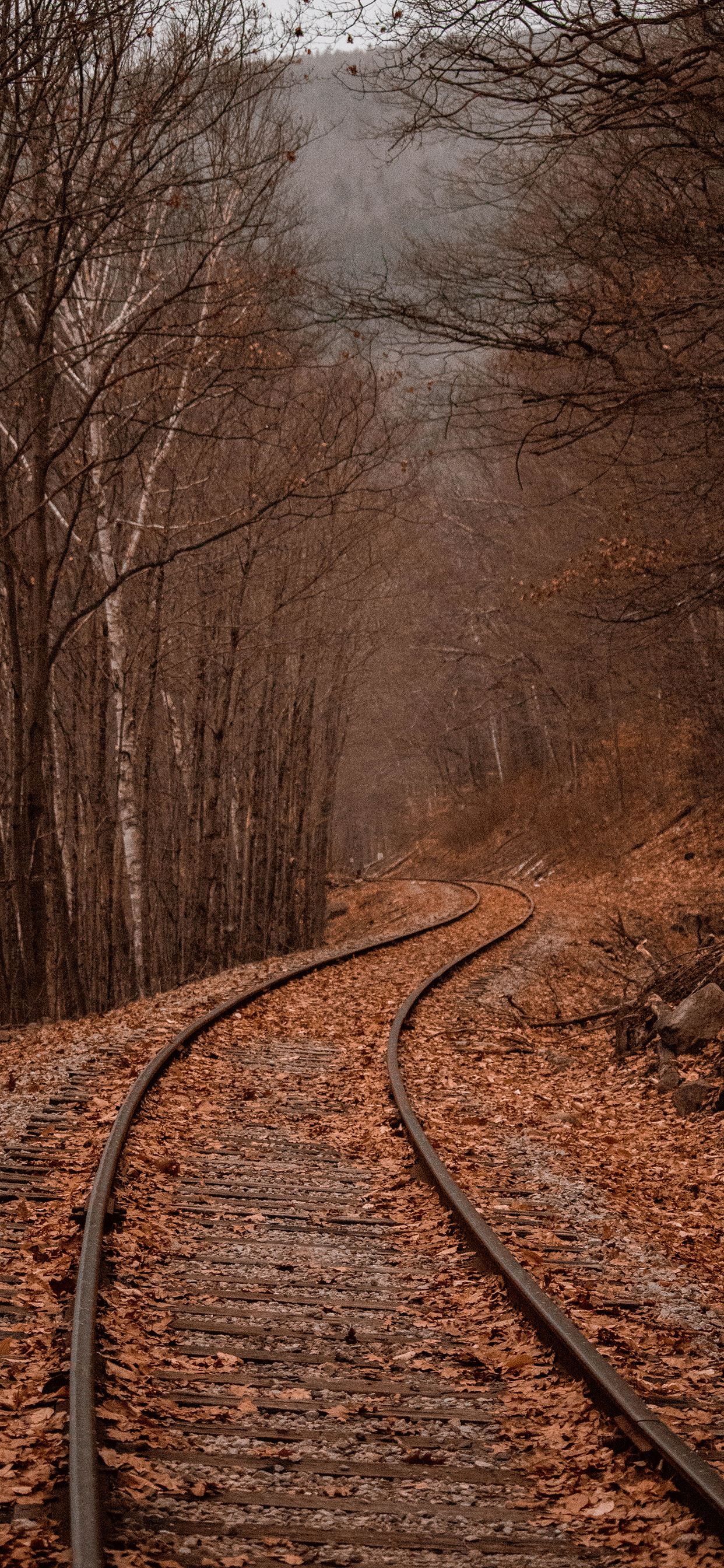 iPhone wallpaper rail way new hampshire Railway line