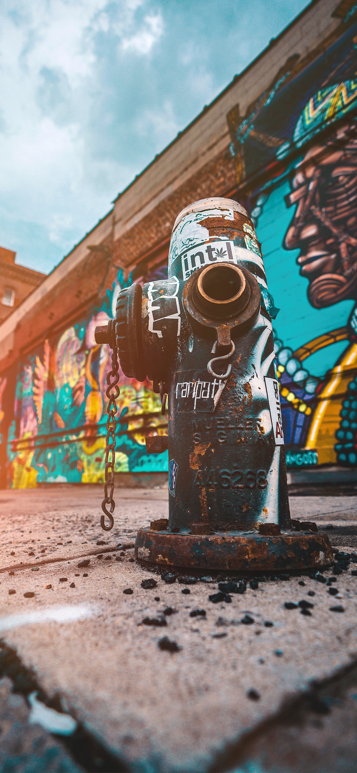 iPhone wallpaper street art hydrant Fonds d'écran iPhone du 16/11/2018