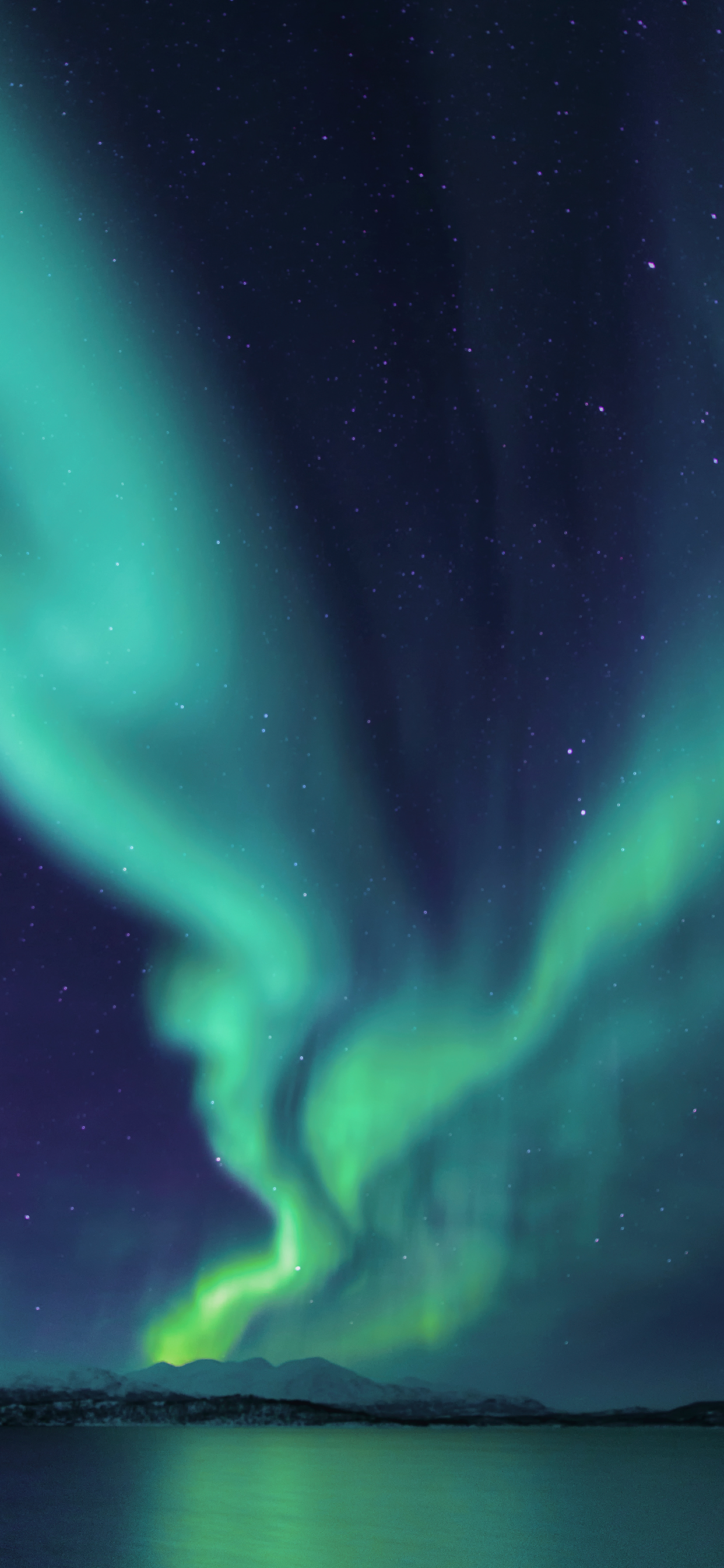 iPhone wallpaper aurora borealis river Northern Lights