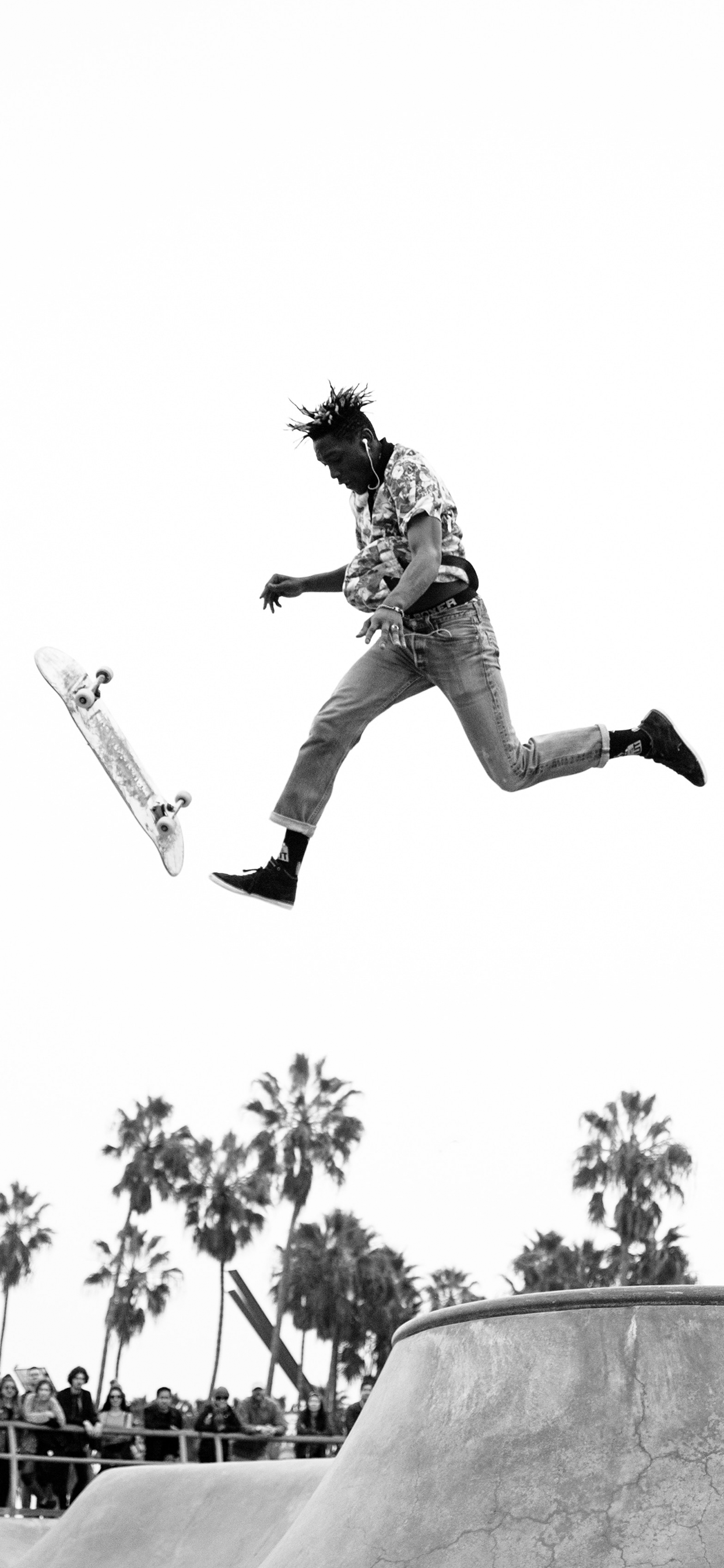 iPhone wallpaper skater black white Fonds d'écran iPhone du 13/12/2018