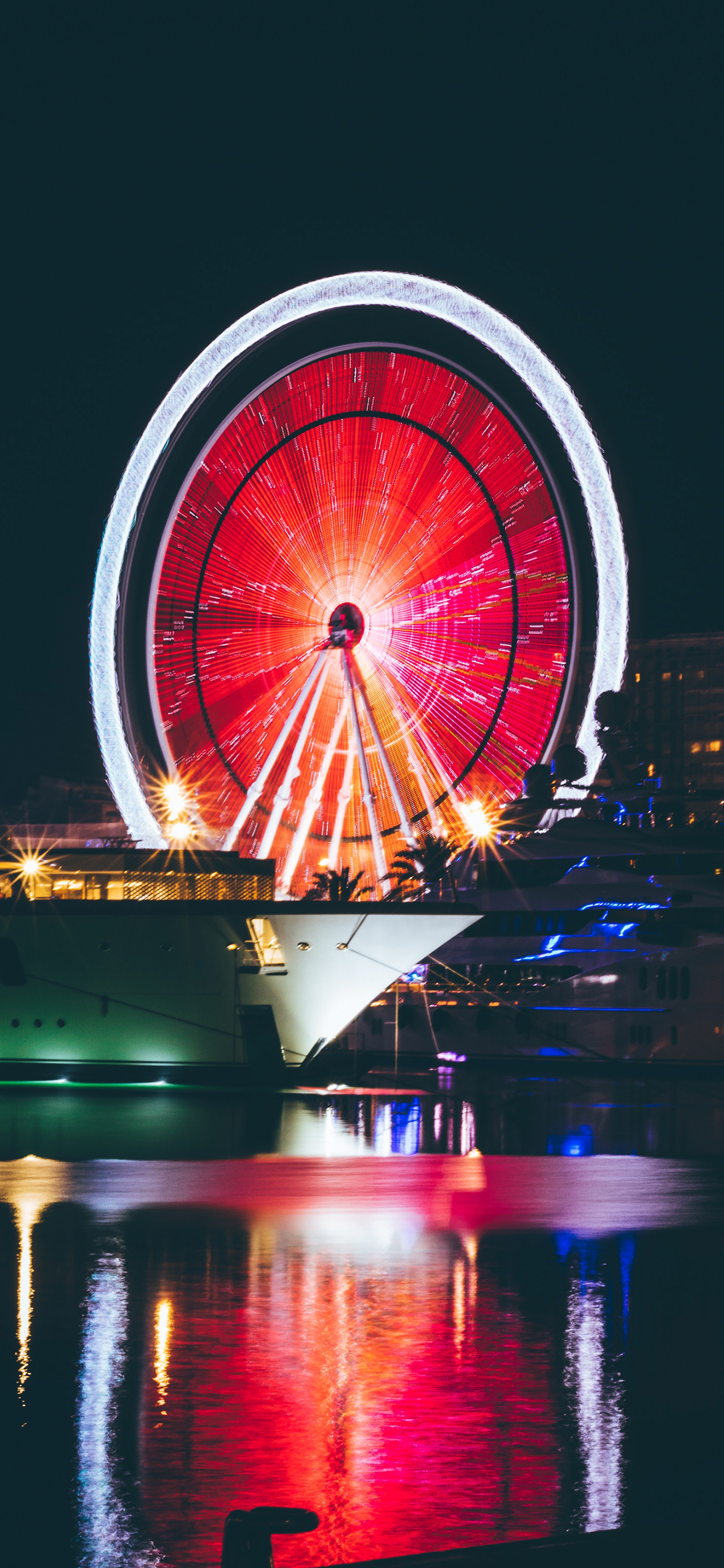 iPhone wallpaper ferris wheel red Ferris wheel