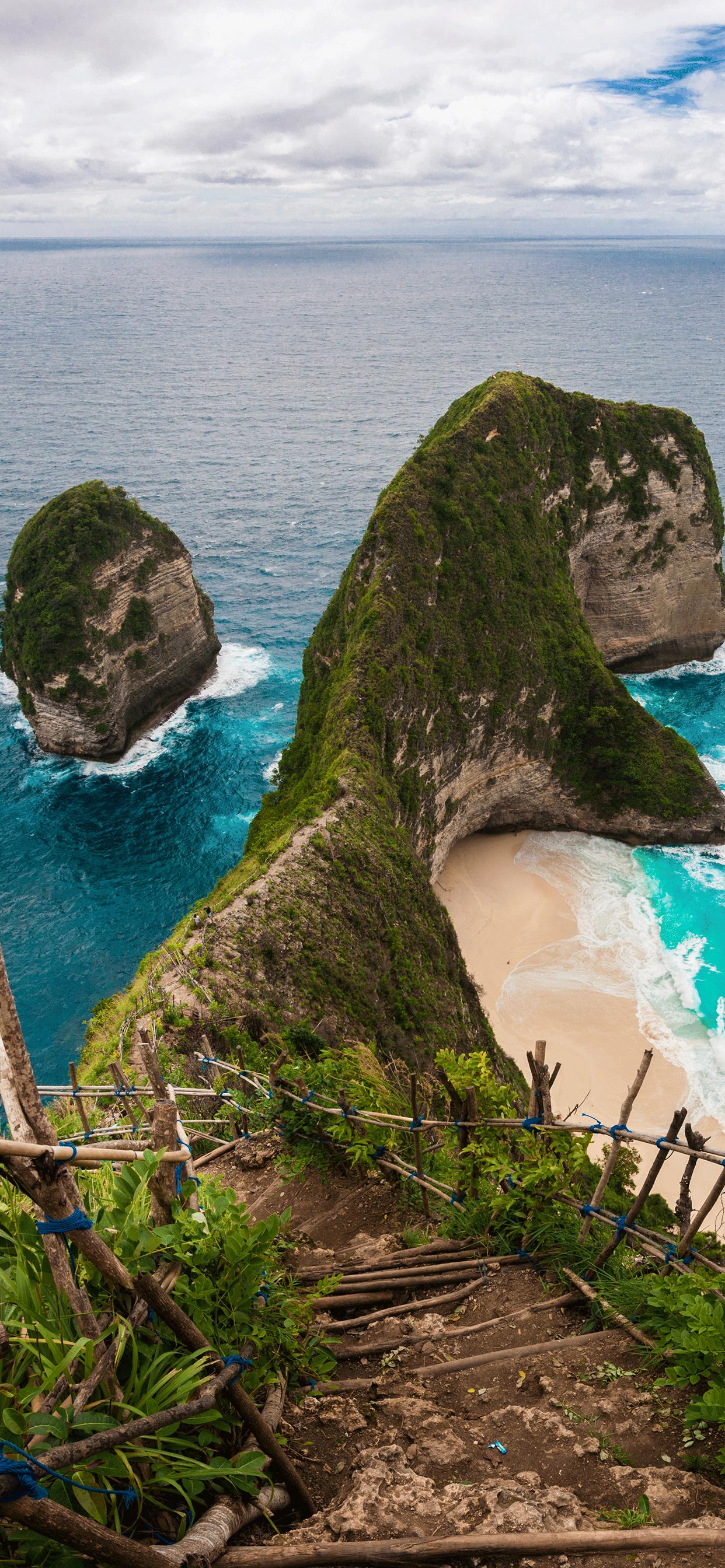 iPhone wallpaper indonesia kelingking beach Fonds d'écran iPhone du 13/02/2019