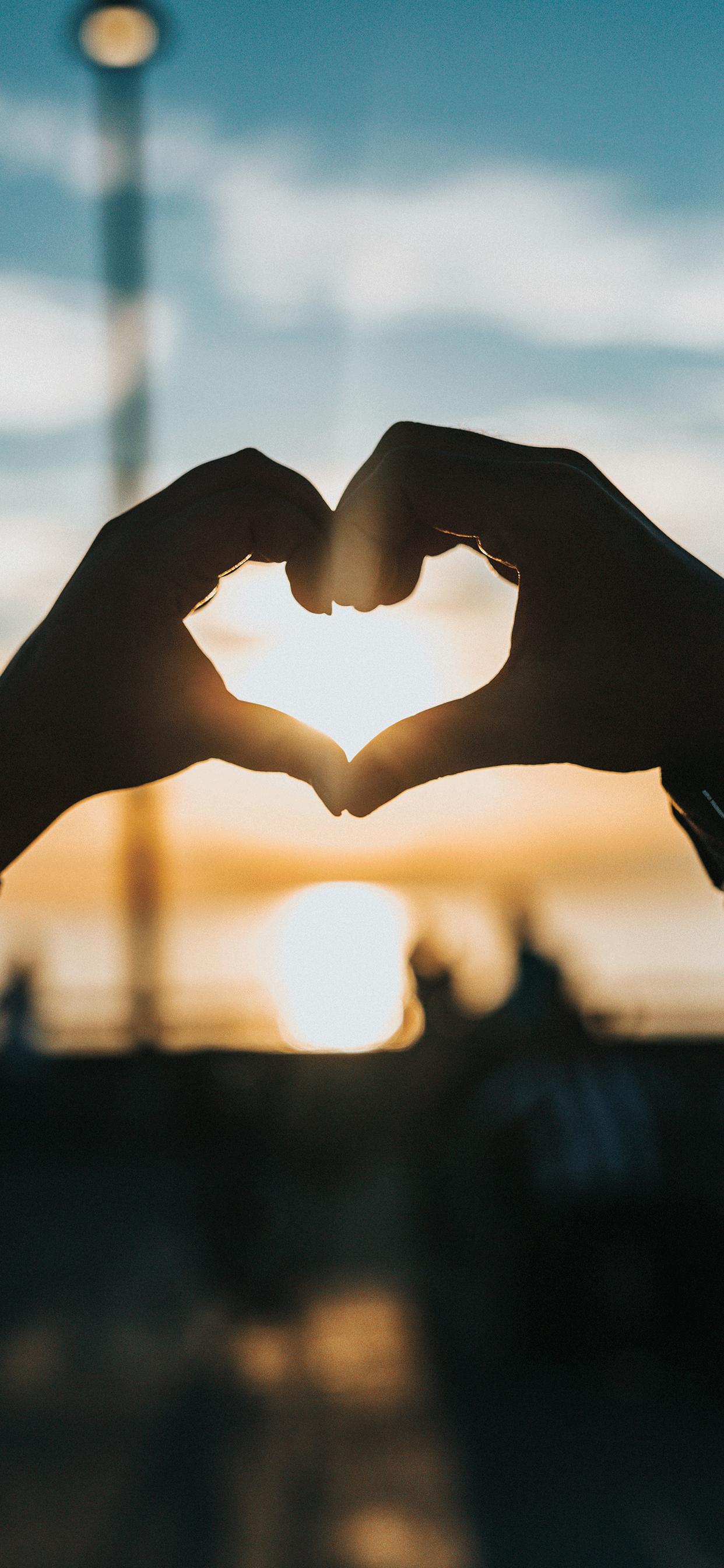iPhone wallpaper love heart hands Valentines day