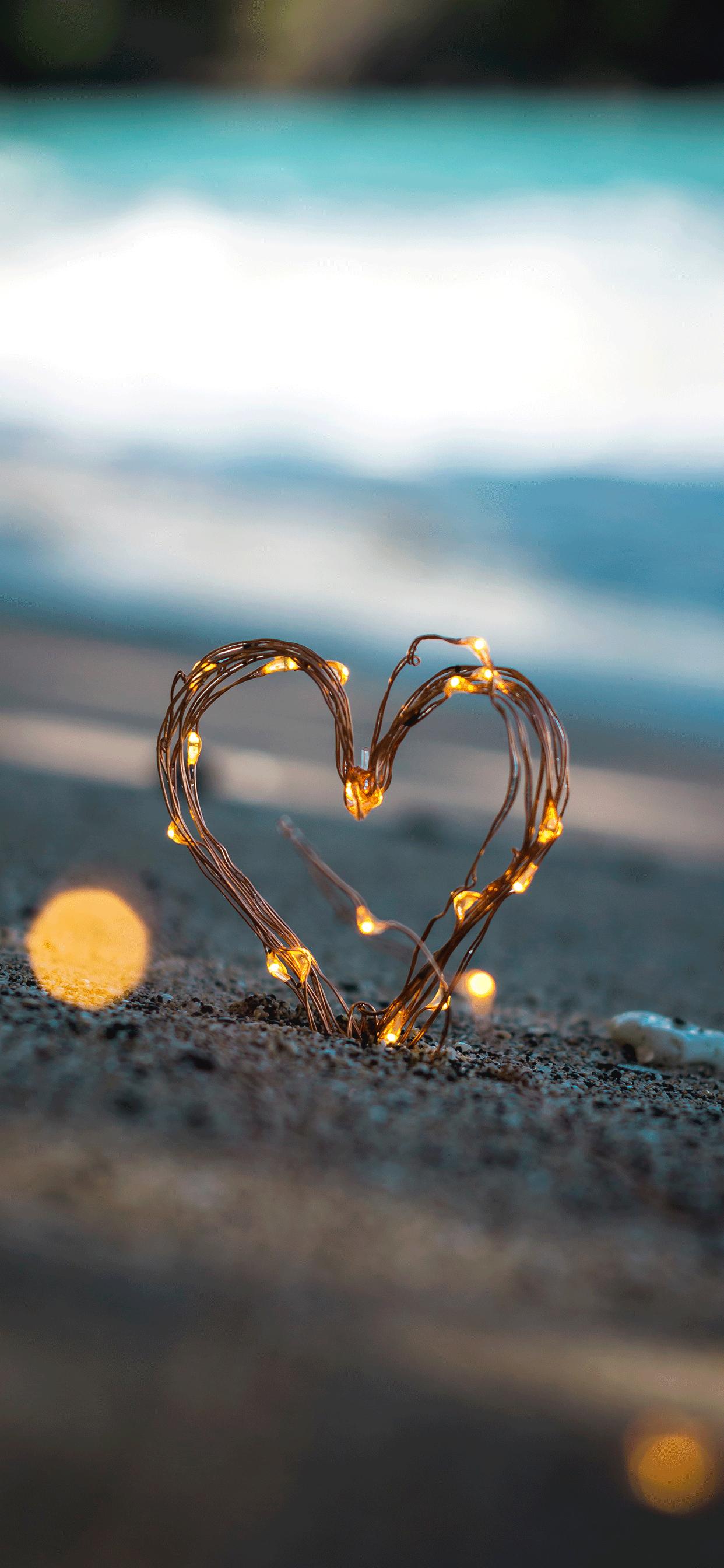 iPhone wallpaper love heart Fonds d'écran iPhone du 14/02/2019